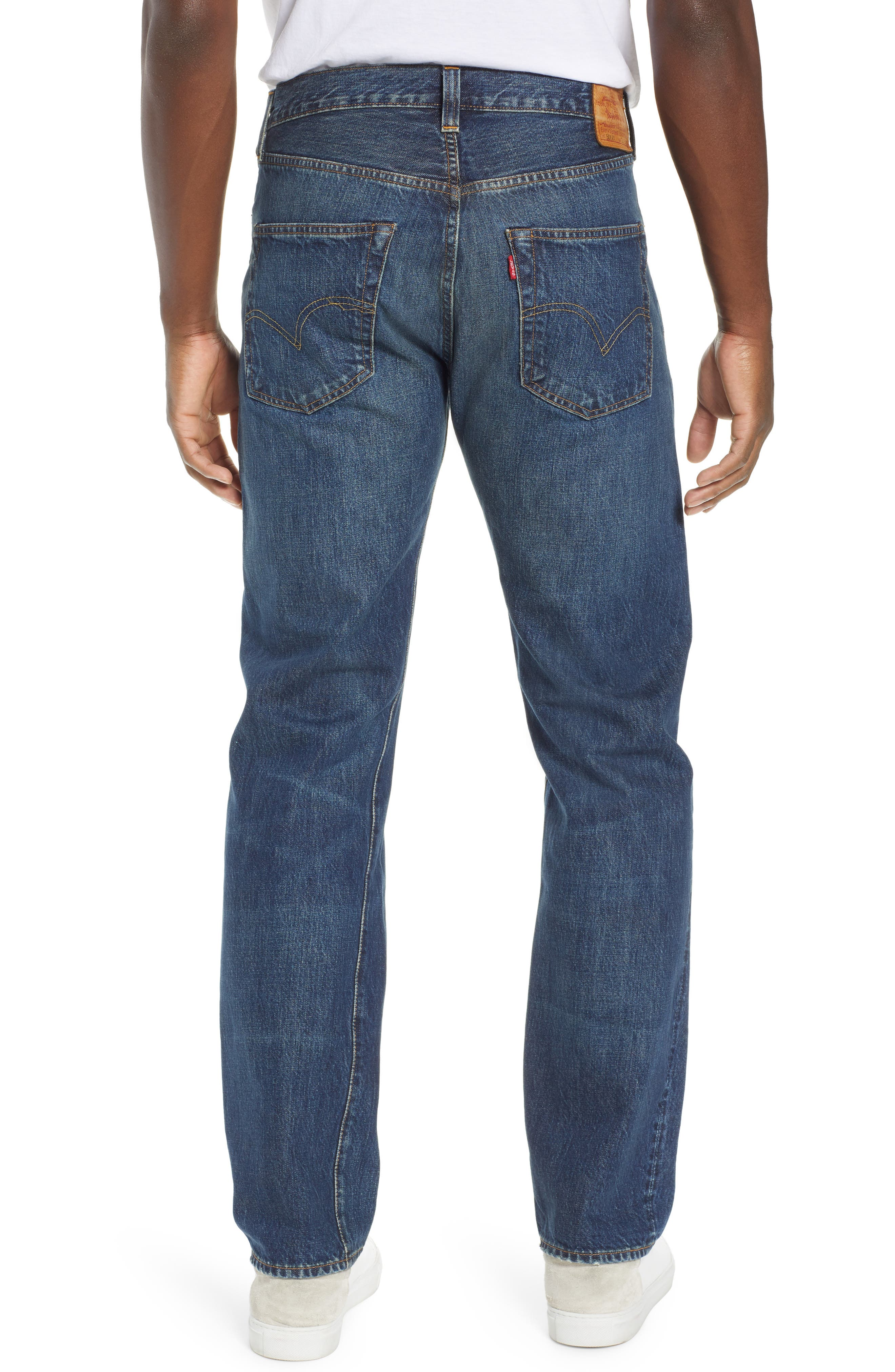 LEVI'S<SUP>®</SUP> VINTAGE CLOTHING, 1947 501<sup>®</sup> Straight Leg Jeans, Alternate thumbnail 2, color, 402
