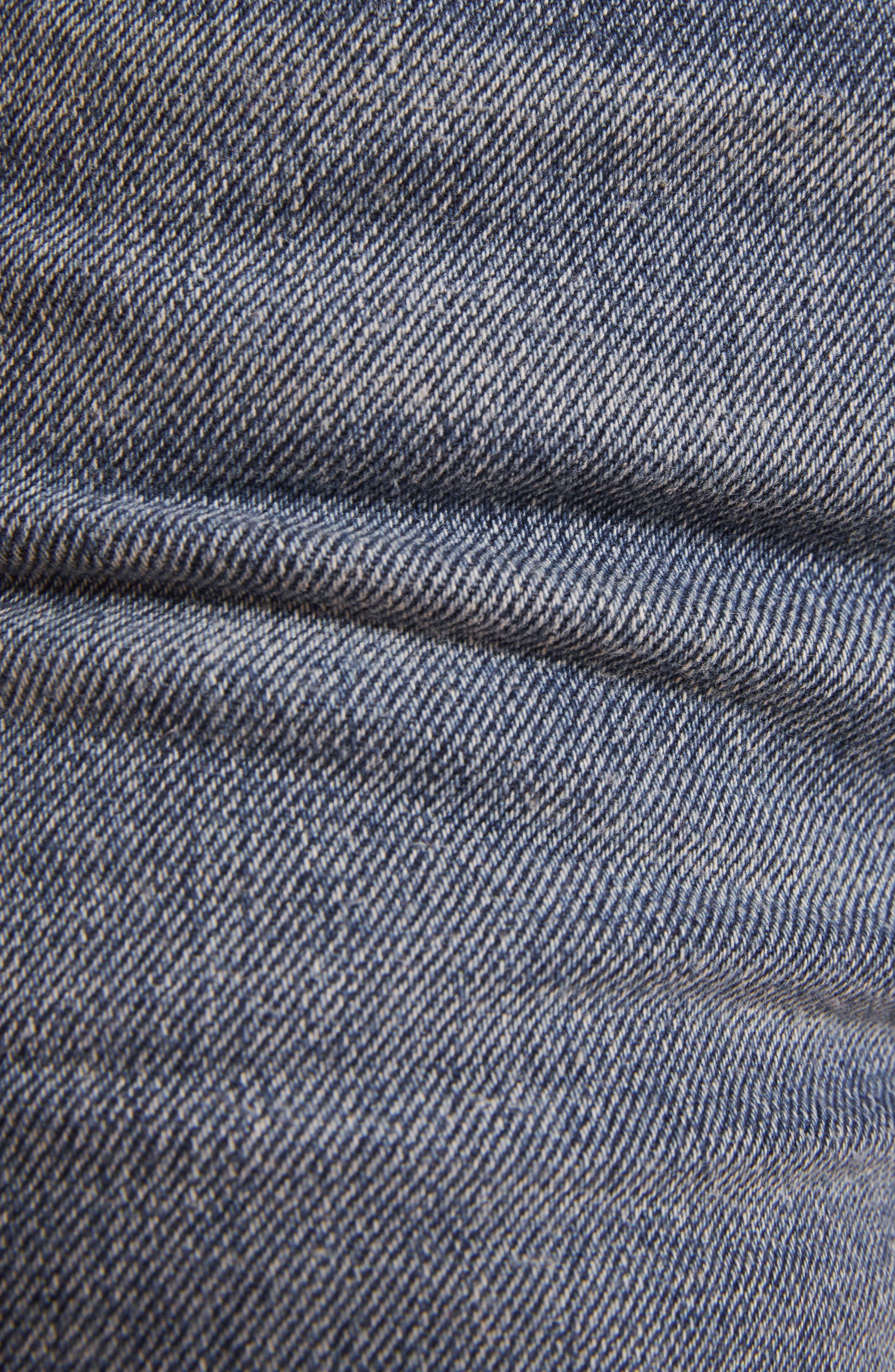 REFORMATION, Fawcett High Waist Crop Jeans, Alternate thumbnail 4, color, CELTIC