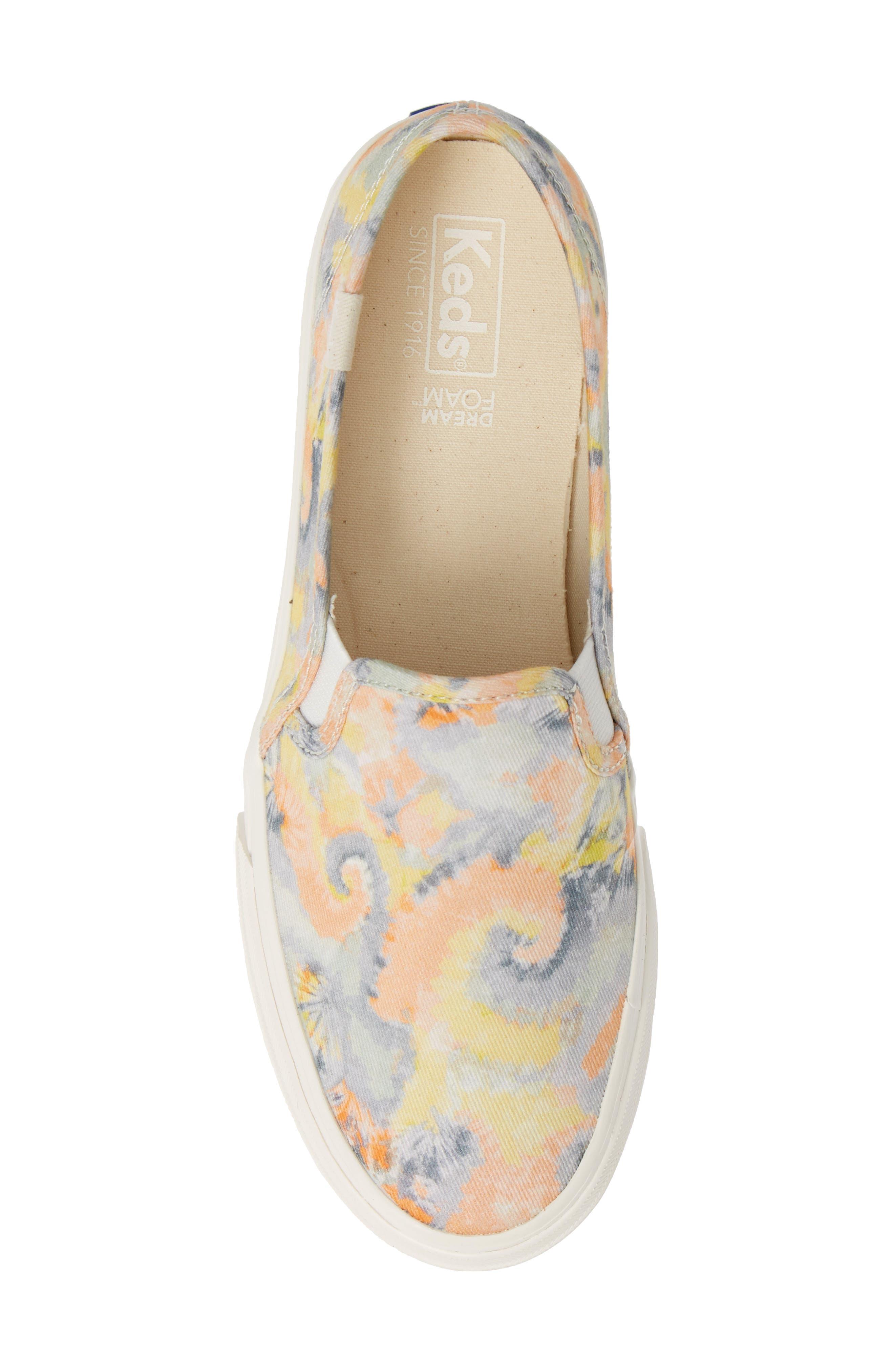 KEDS<SUP>®</SUP>, Double Decker Tie Dye Sneaker, Alternate thumbnail 5, color, PINK MULTI