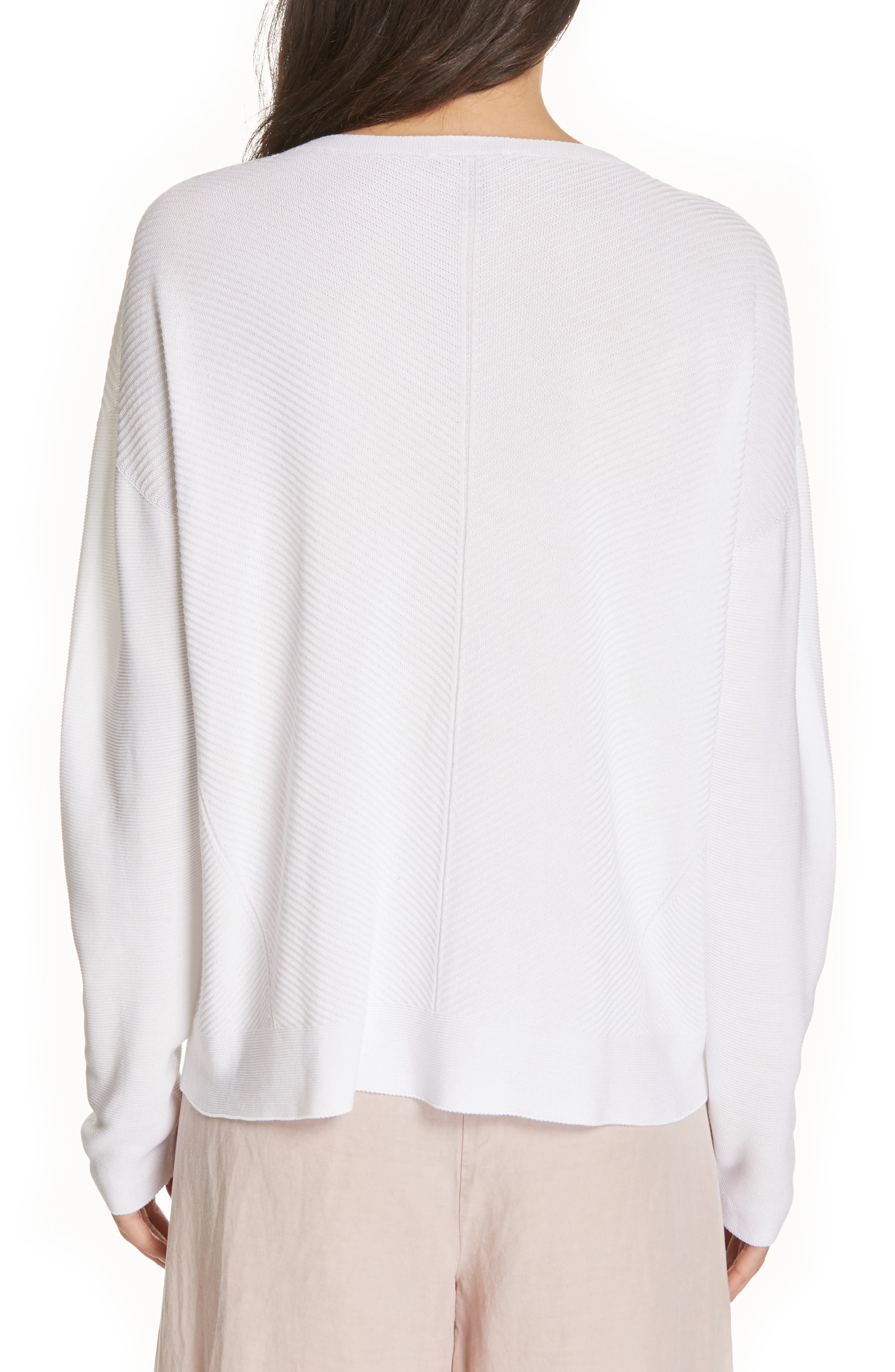 EILEEN FISHER, Round Neck Top, Alternate thumbnail 2, color, 103