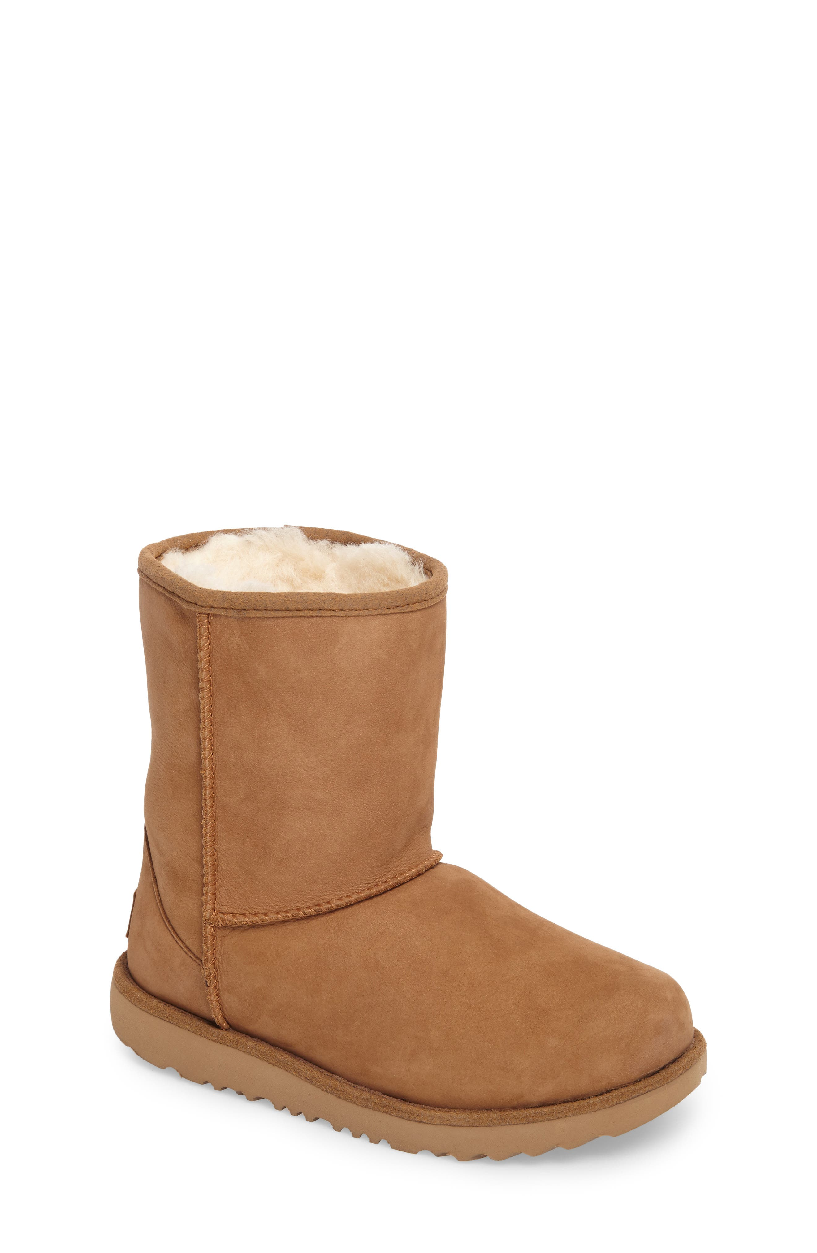 UGG<SUP>®</SUP>, Classic Short II Waterproof Boot, Main thumbnail 1, color, CHESTNUT