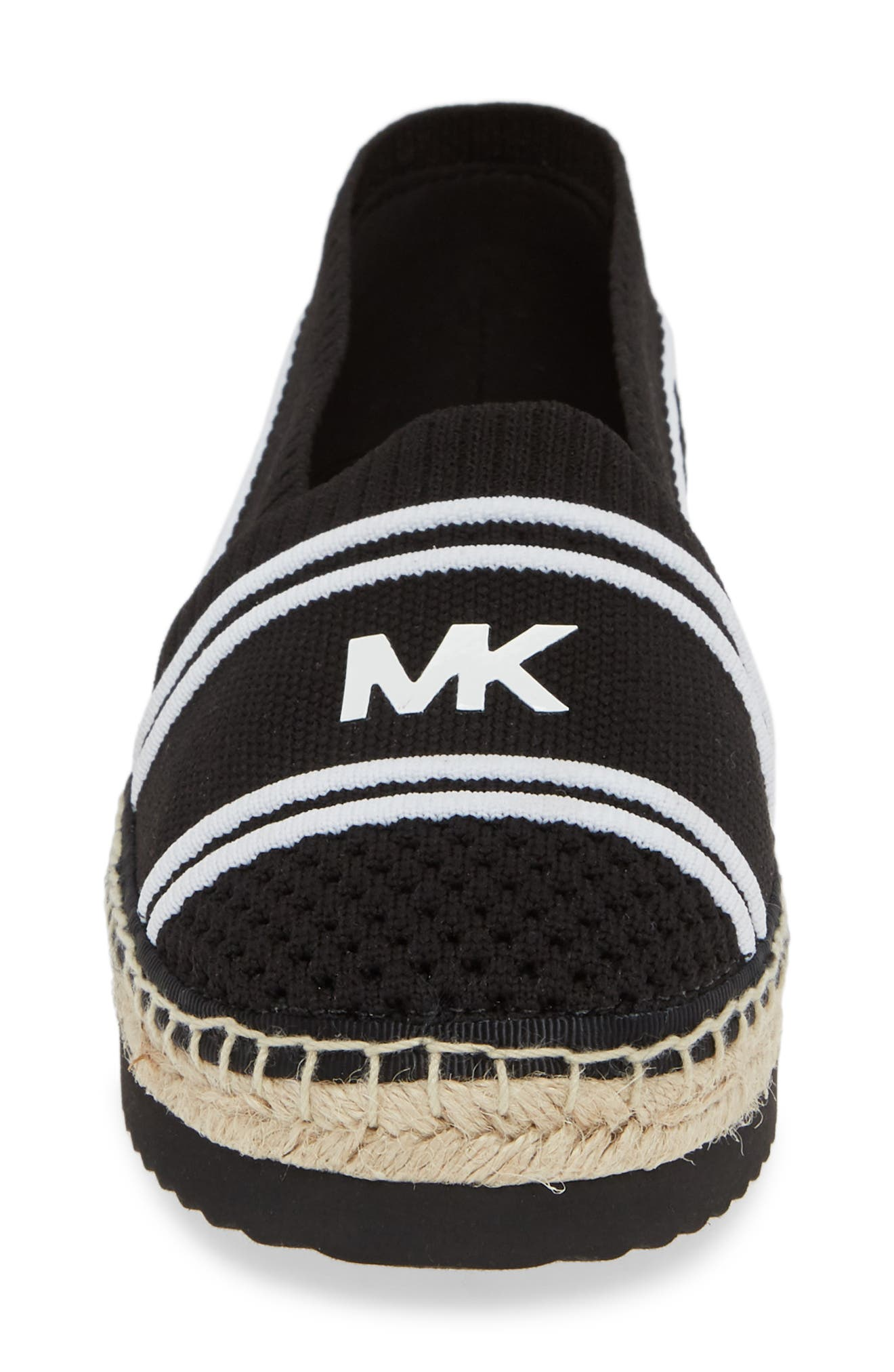 MICHAEL MICHAEL KORS, Raya Espadrille, Alternate thumbnail 4, color, BLACK FABRIC