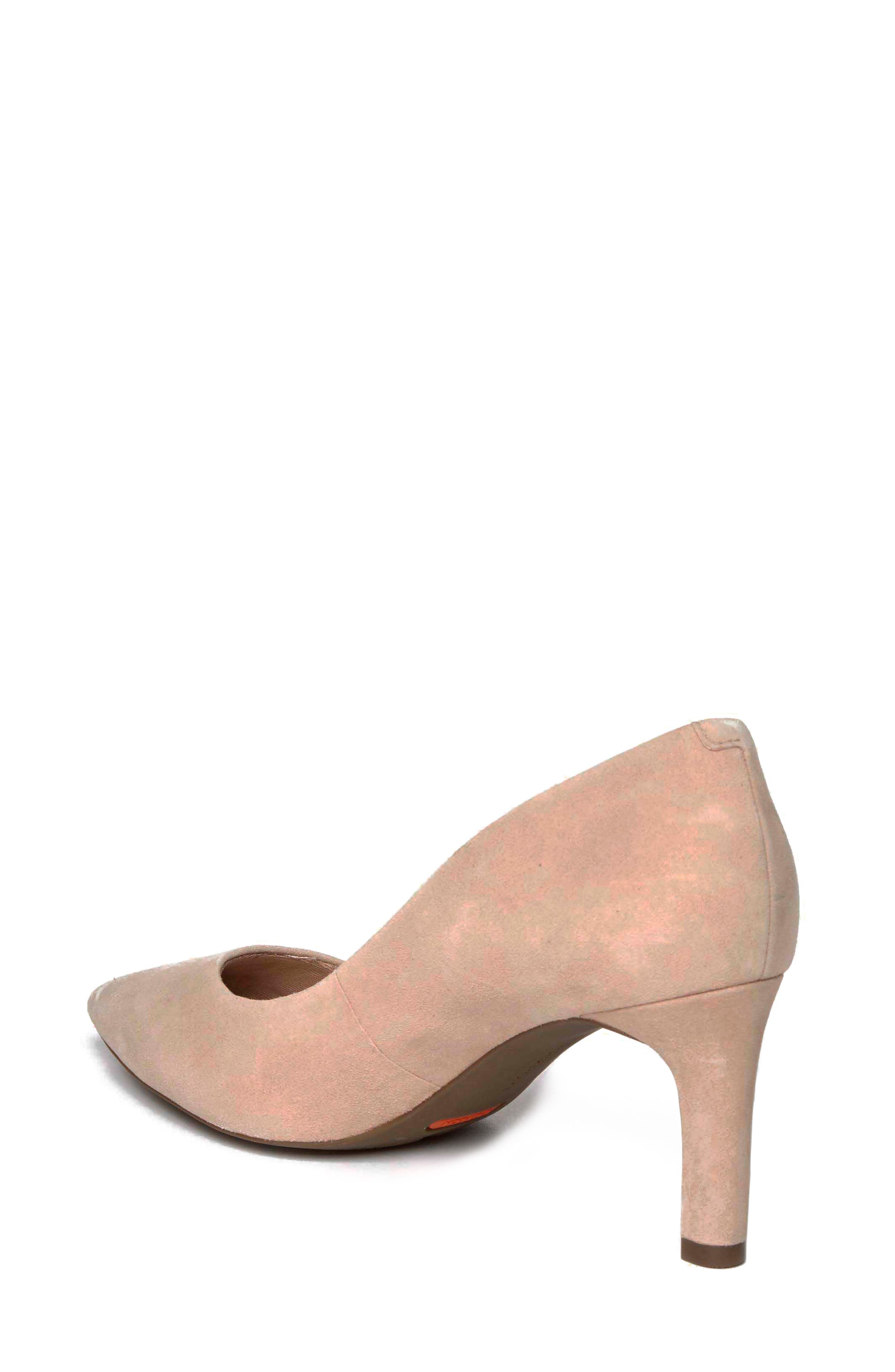 ROCKPORT, Total Motion Luxe Valerie Pump, Alternate thumbnail 2, color, BLUSH SUEDE