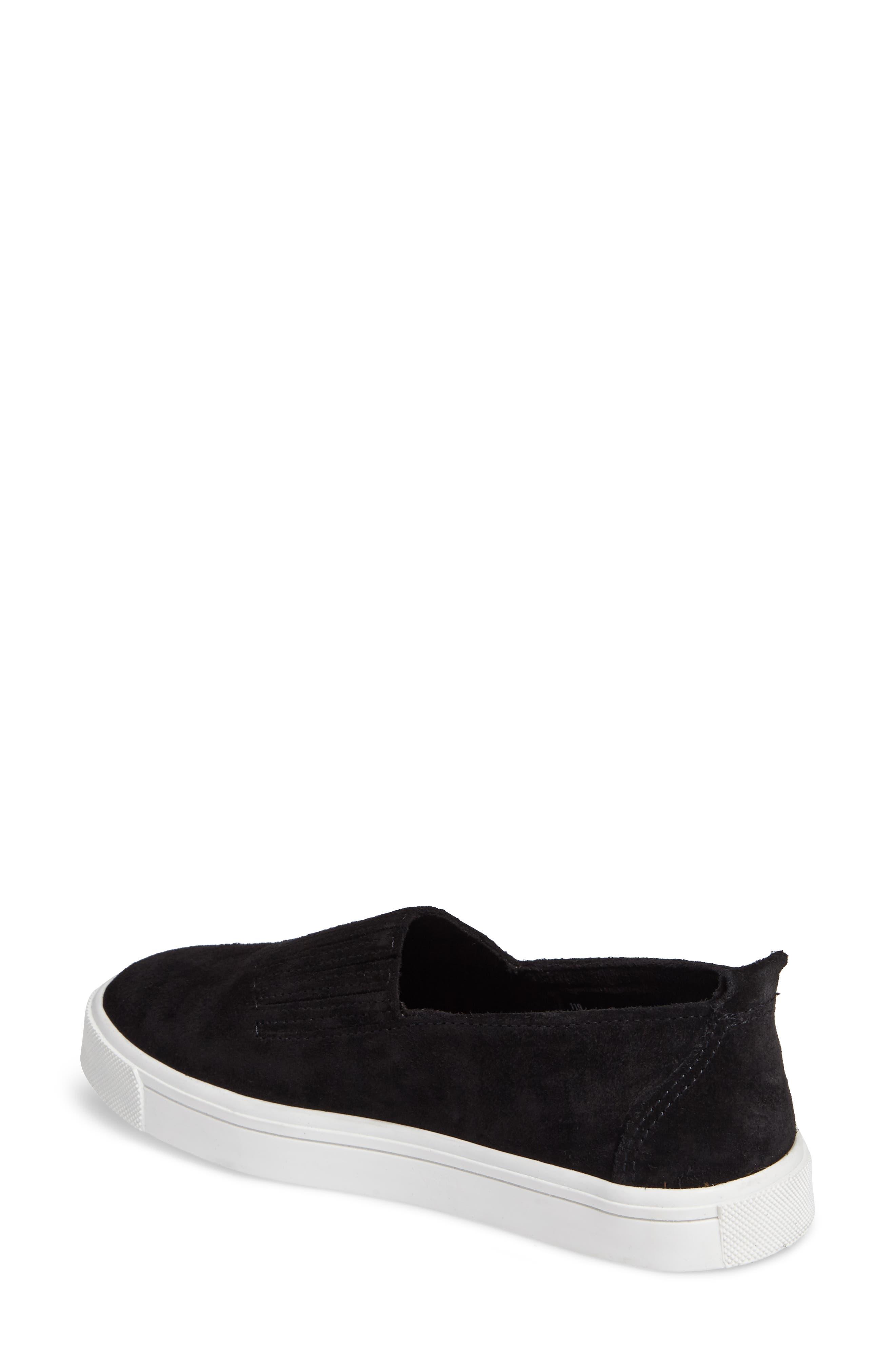 MINNETONKA, Gabi Slip-On Sneaker, Alternate thumbnail 2, color, BLACK