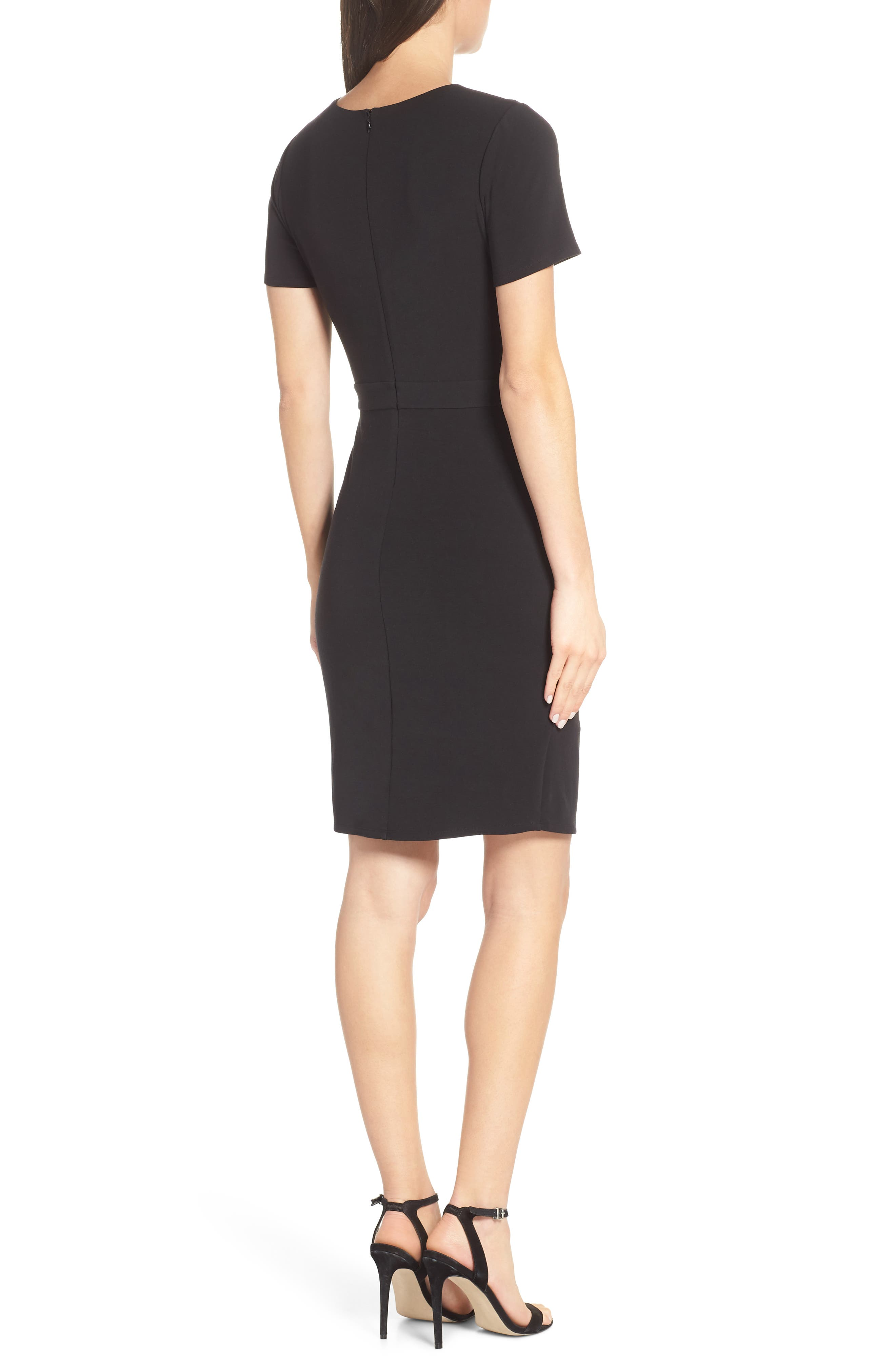 ALI & JAY, Pleated Jersey Dress, Alternate thumbnail 2, color, BLACK