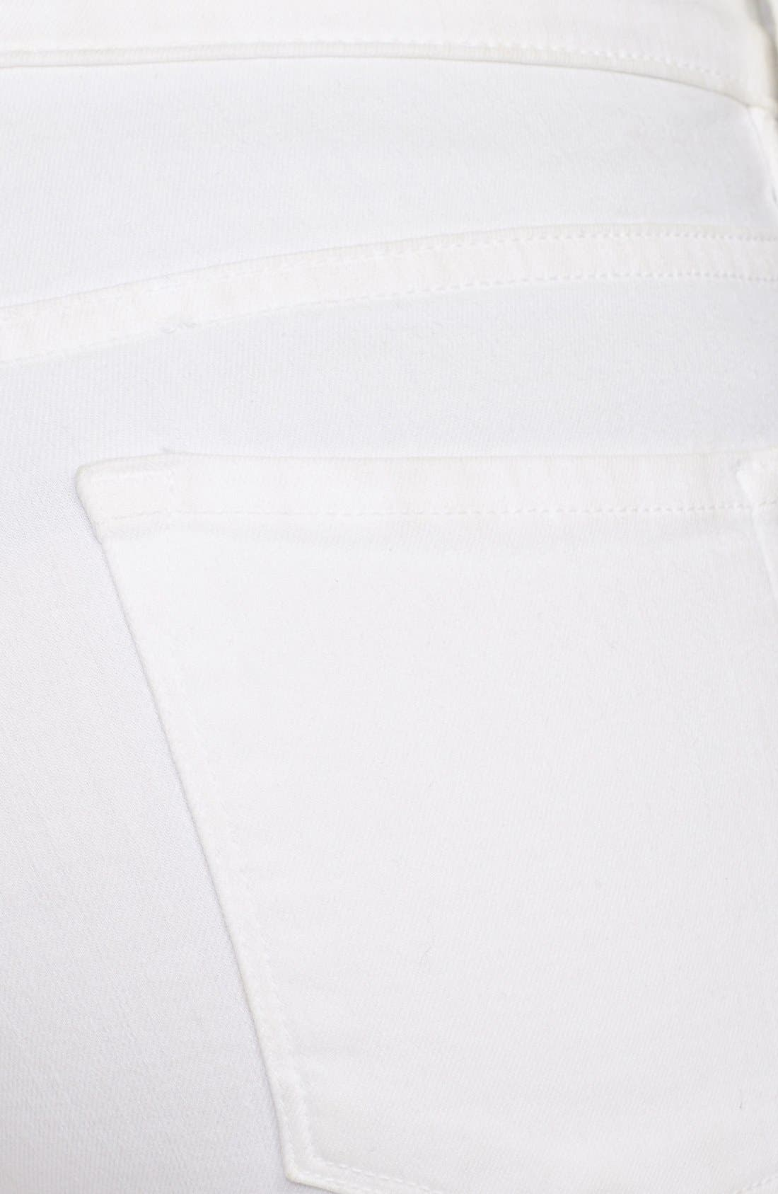 FRAME, Le Color Skinny Jeans, Alternate thumbnail 10, color, BLANC