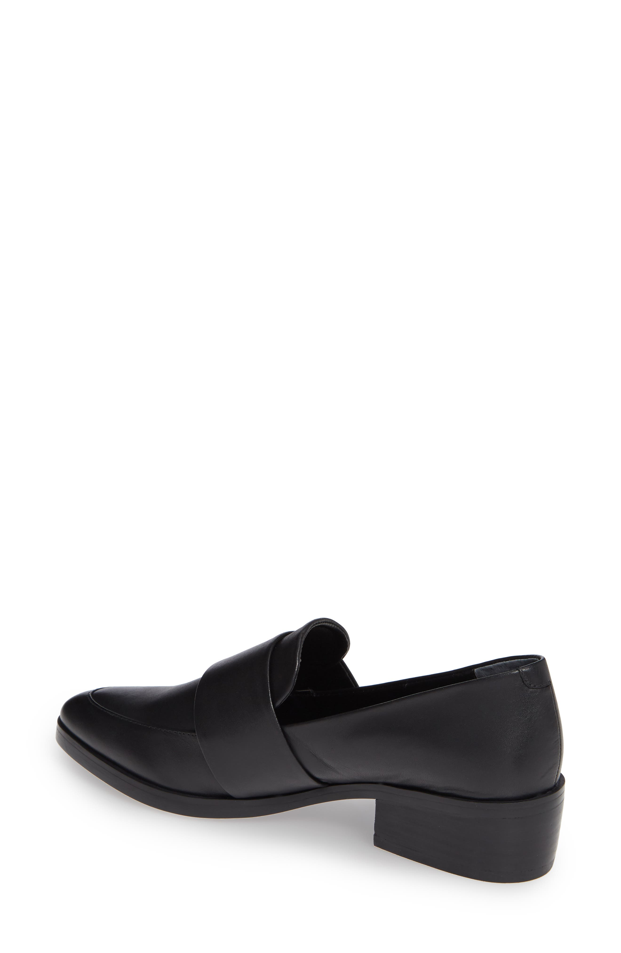 TONY BIANCO, Mayfair Loafer, Alternate thumbnail 2, color, BLACK LEATHER
