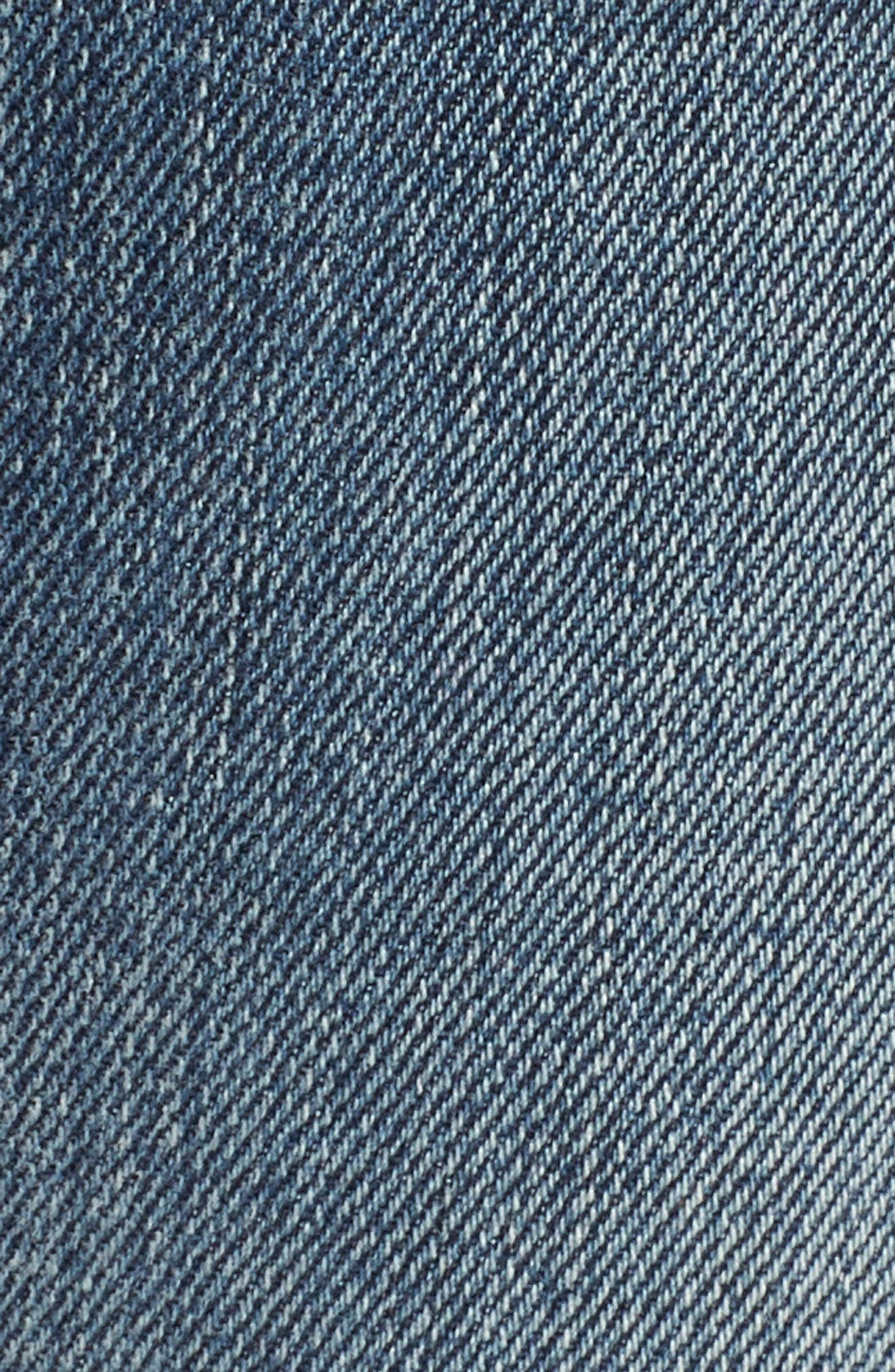 7 FOR ALL MANKIND<SUP>®</SUP>, High Waist Fray Crop Bootcut Jeans, Alternate thumbnail 6, color, 400
