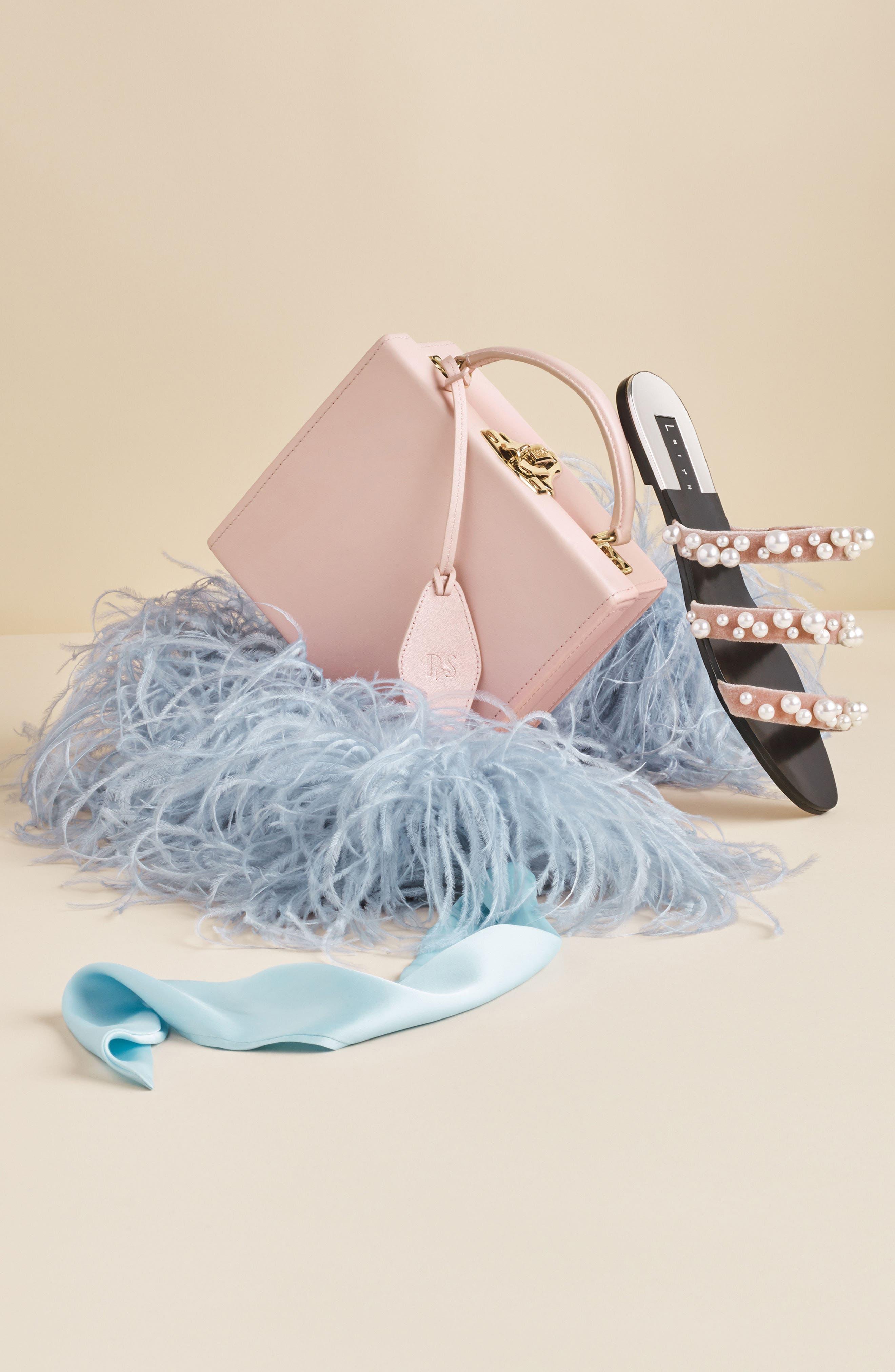 LEITH, Stunner Embellished Strappy Slide Sandal, Alternate thumbnail 7, color, BLUSH VELVET