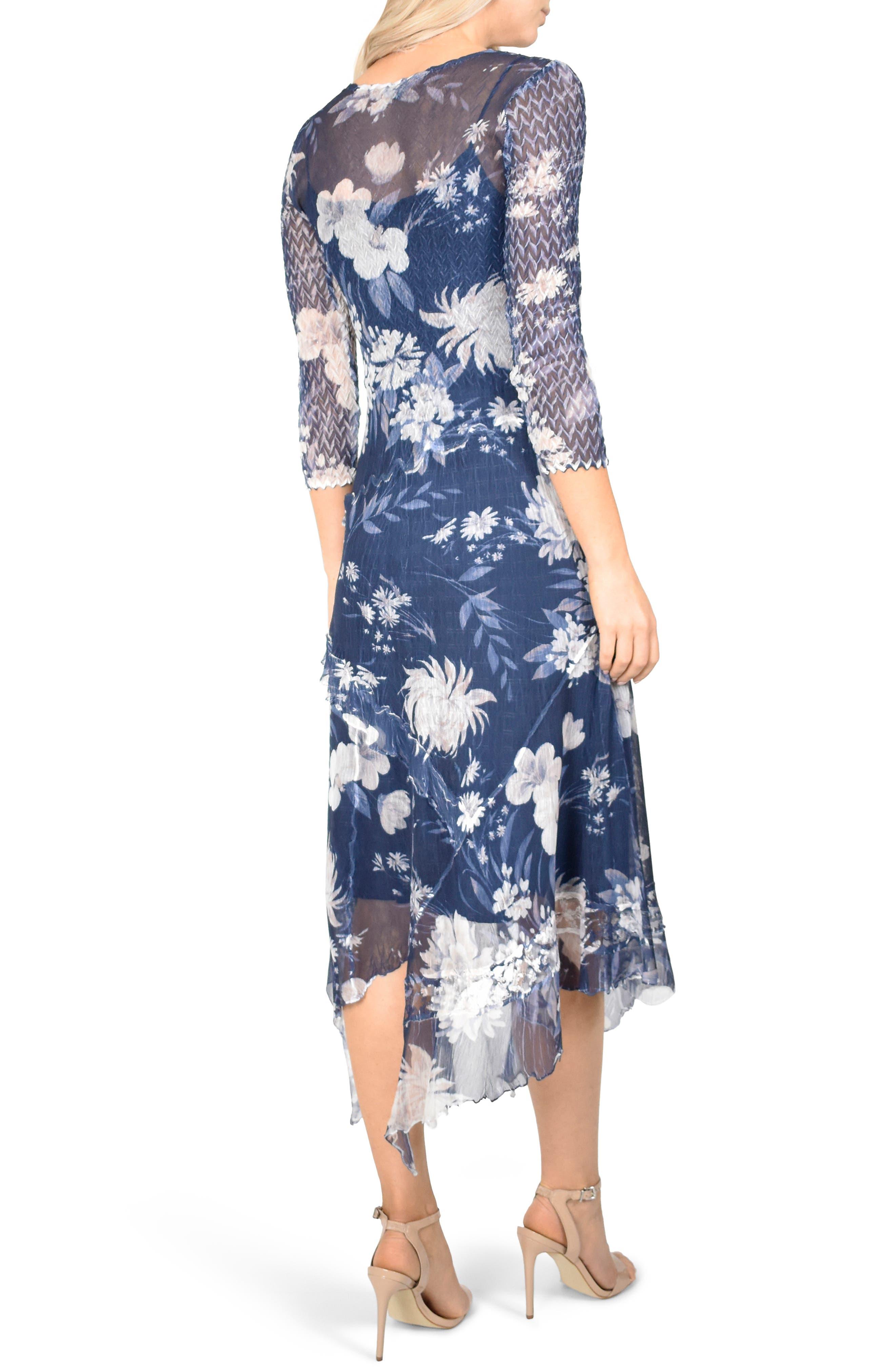 KOMAROV, Handkerchief Hem Dress, Alternate thumbnail 2, color, 400