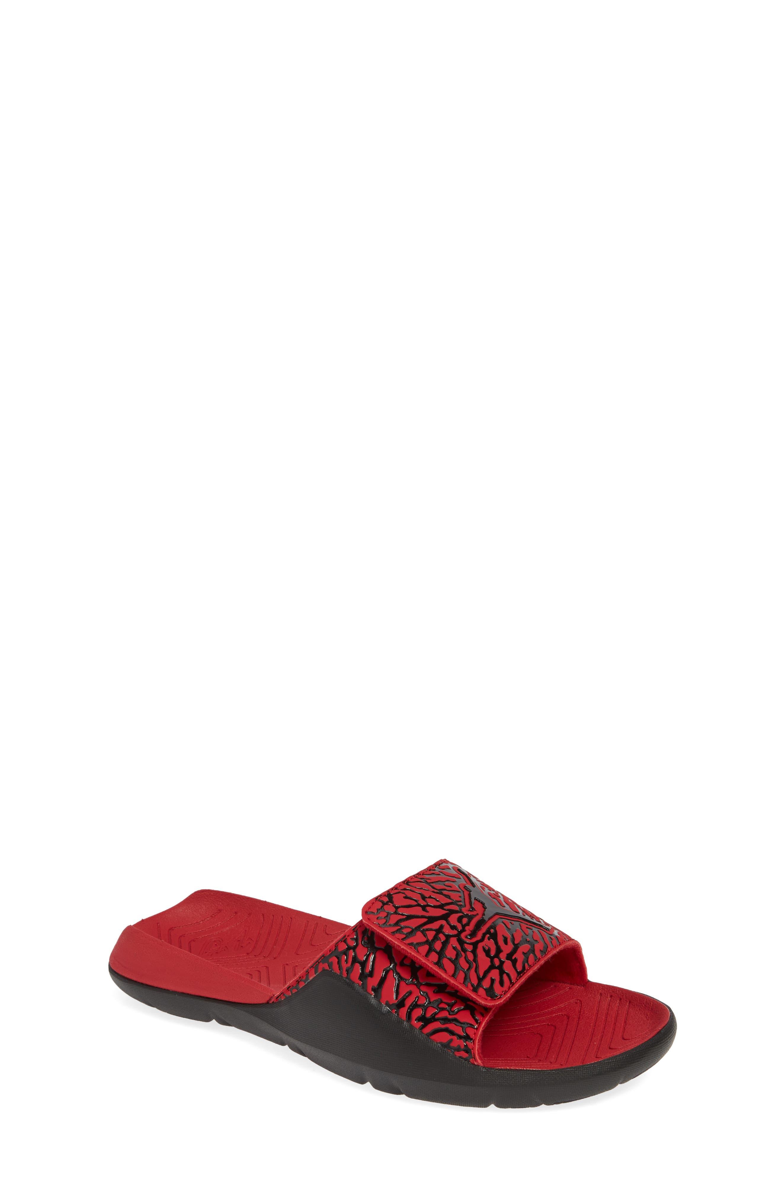 JORDAN, Hydro 7 V2 Sandal, Main thumbnail 1, color, GYM RED/ BLACK
