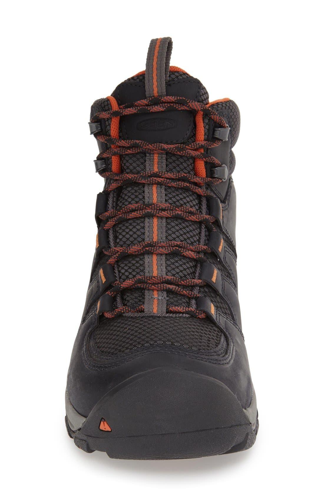KEEN, Gypsum II Waterproof Hiking Boot, Alternate thumbnail 3, color, BLACK NUBUCK LEATHER