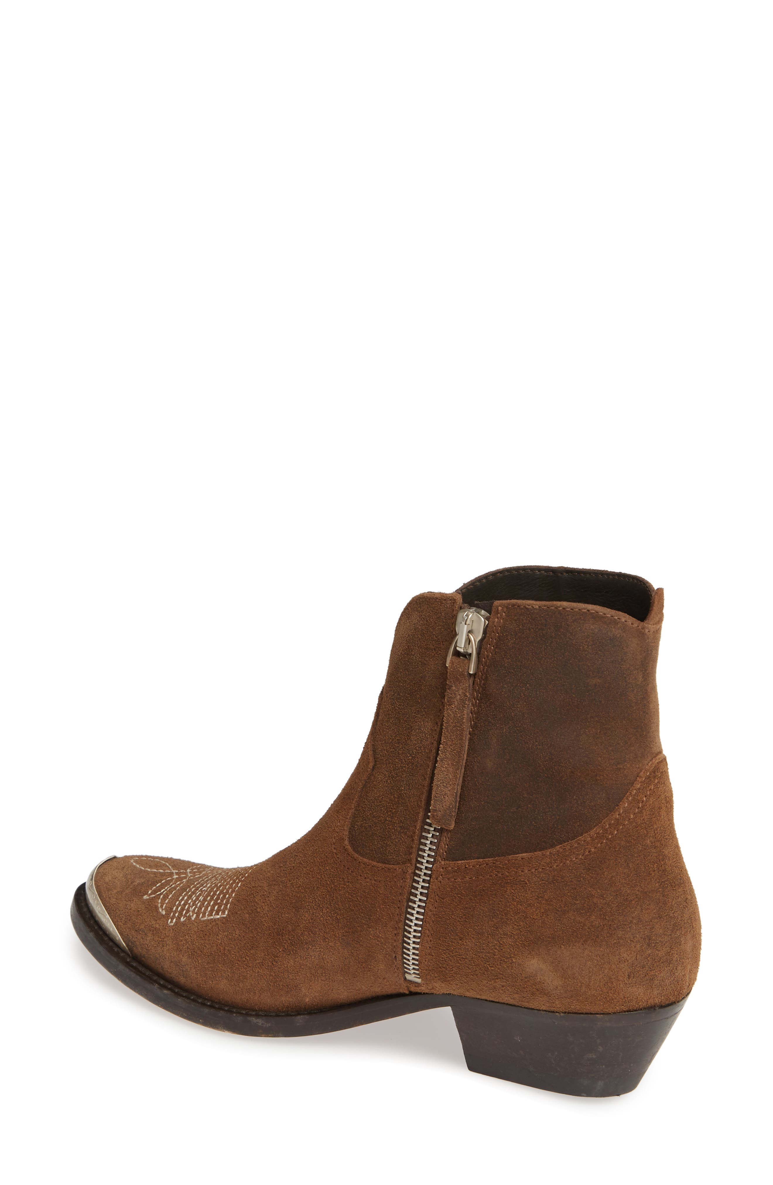 GOLDEN GOOSE, Young Western Boot, Alternate thumbnail 2, color, DARK BROWN