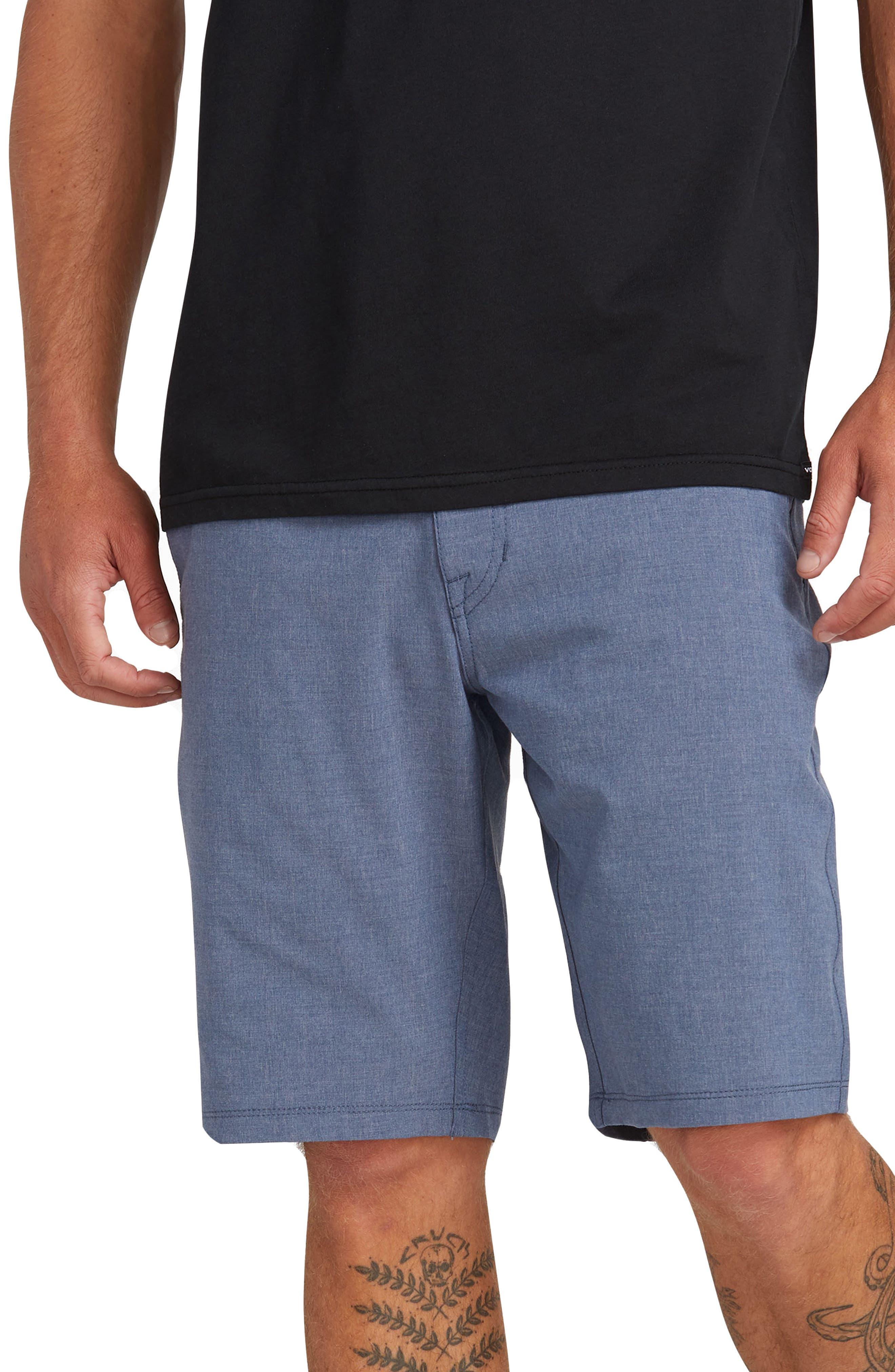 VOLCOM, Hybrid Shorts, Main thumbnail 1, color, DEEP BLUE