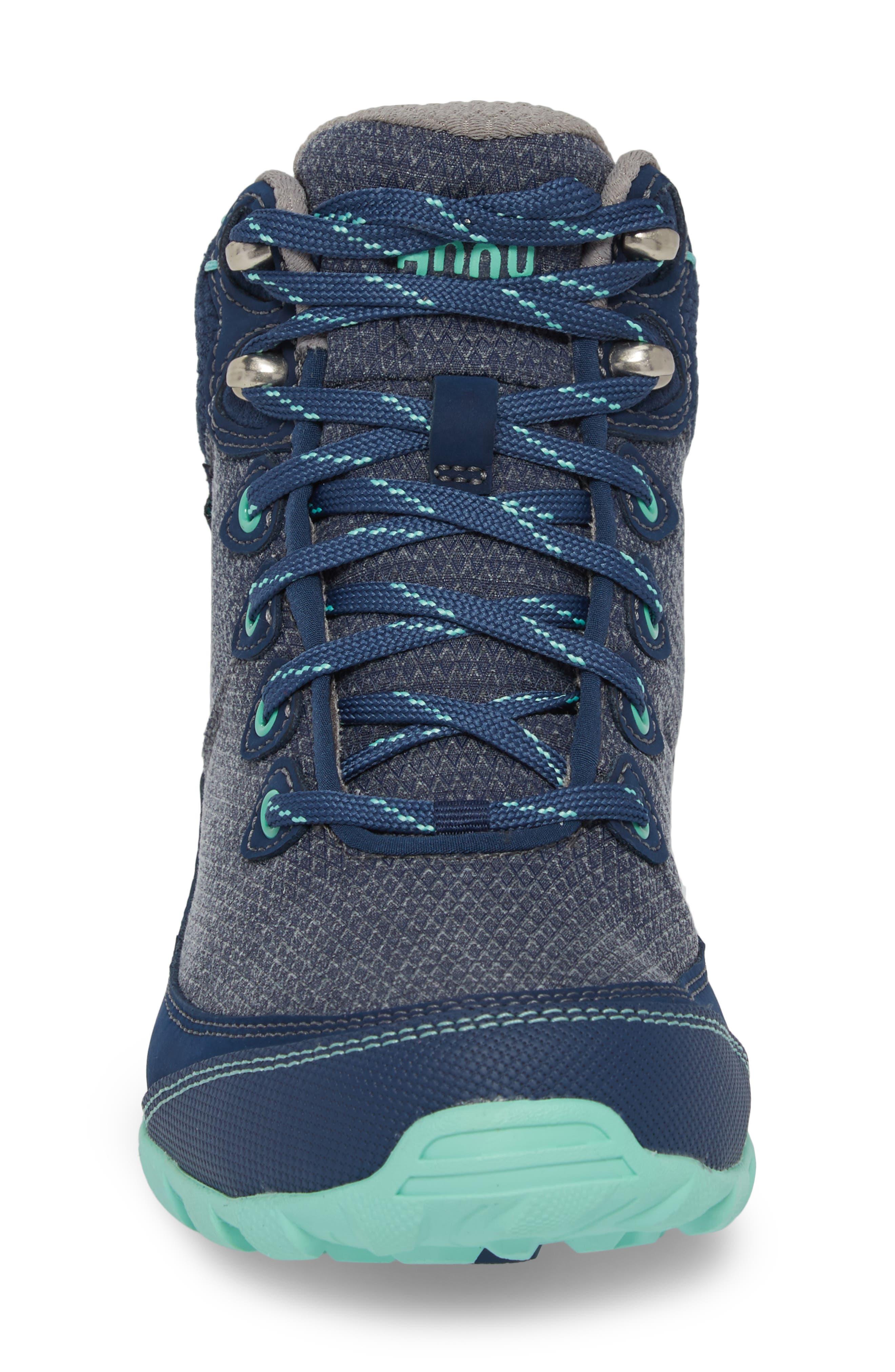 TEVA, Ahnu by Teva Sugarpine II Waterproof Hiking Boot, Alternate thumbnail 4, color, INSIGNIA BLUE