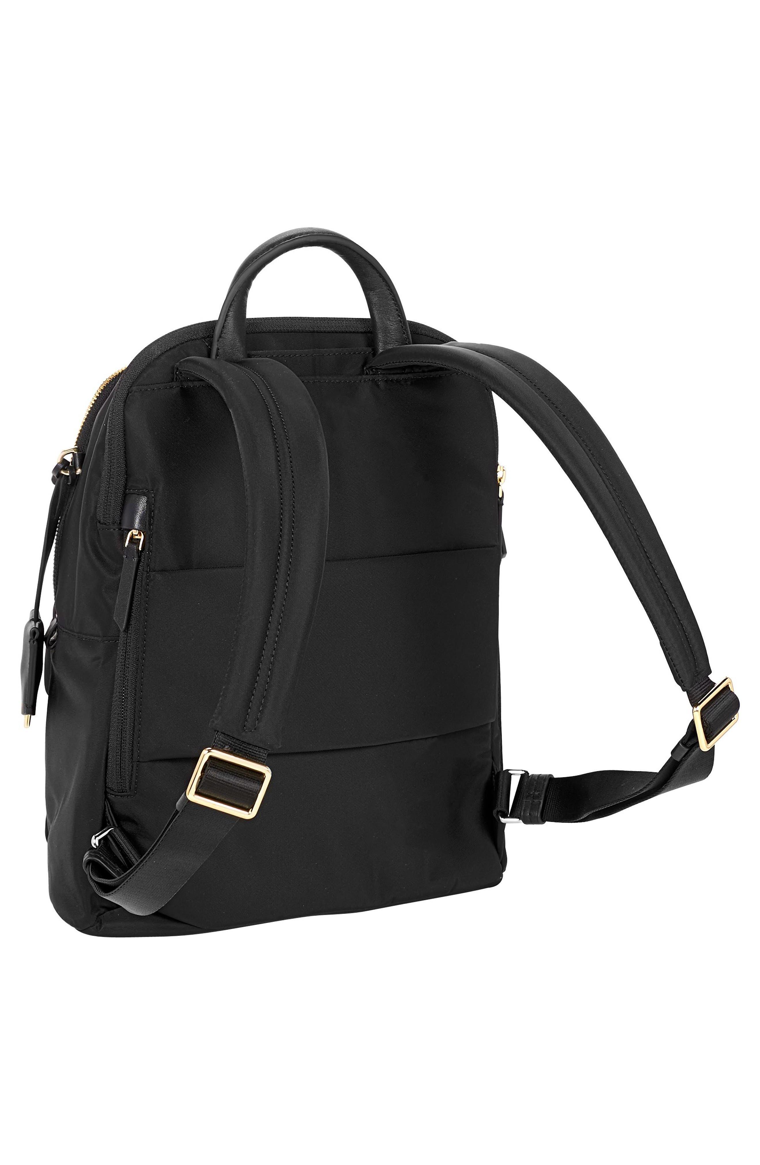TUMI, Voyageur Dori Nylon Backpack, Alternate thumbnail 3, color, BLACK