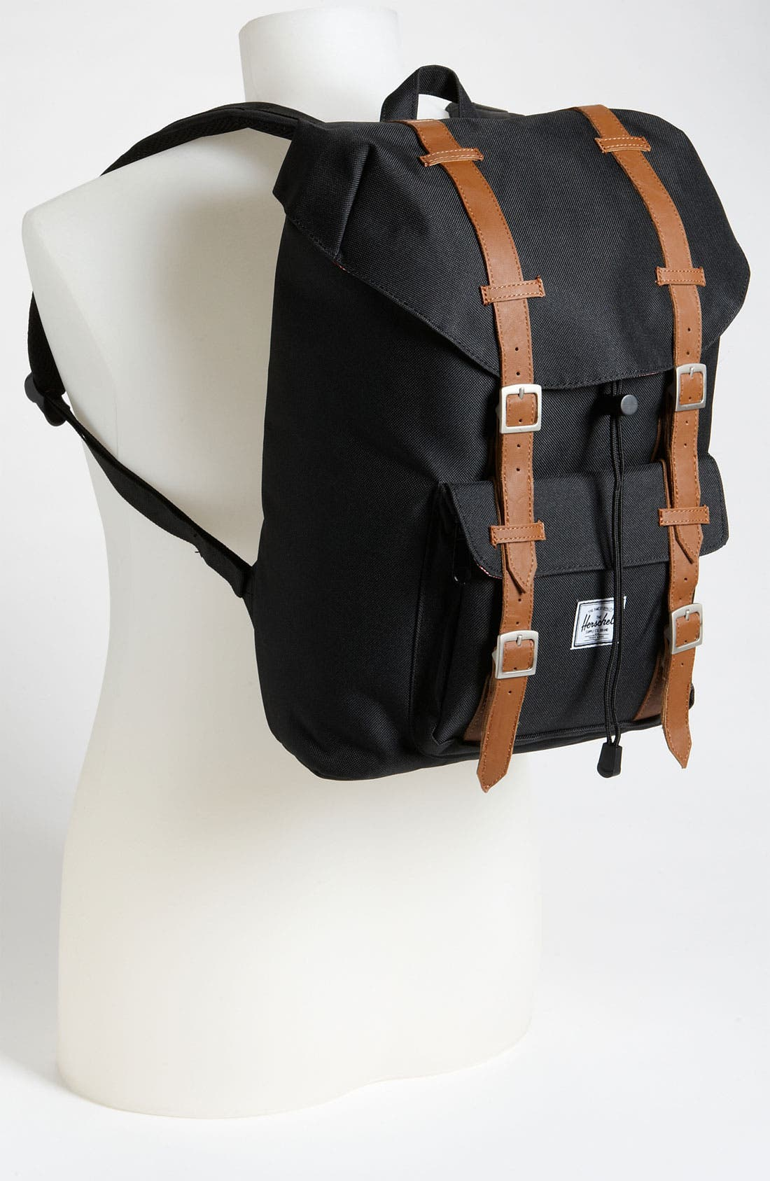 HERSCHEL SUPPLY CO., Little America - Mid Volume Backpack, Alternate thumbnail 5, color, BLACK
