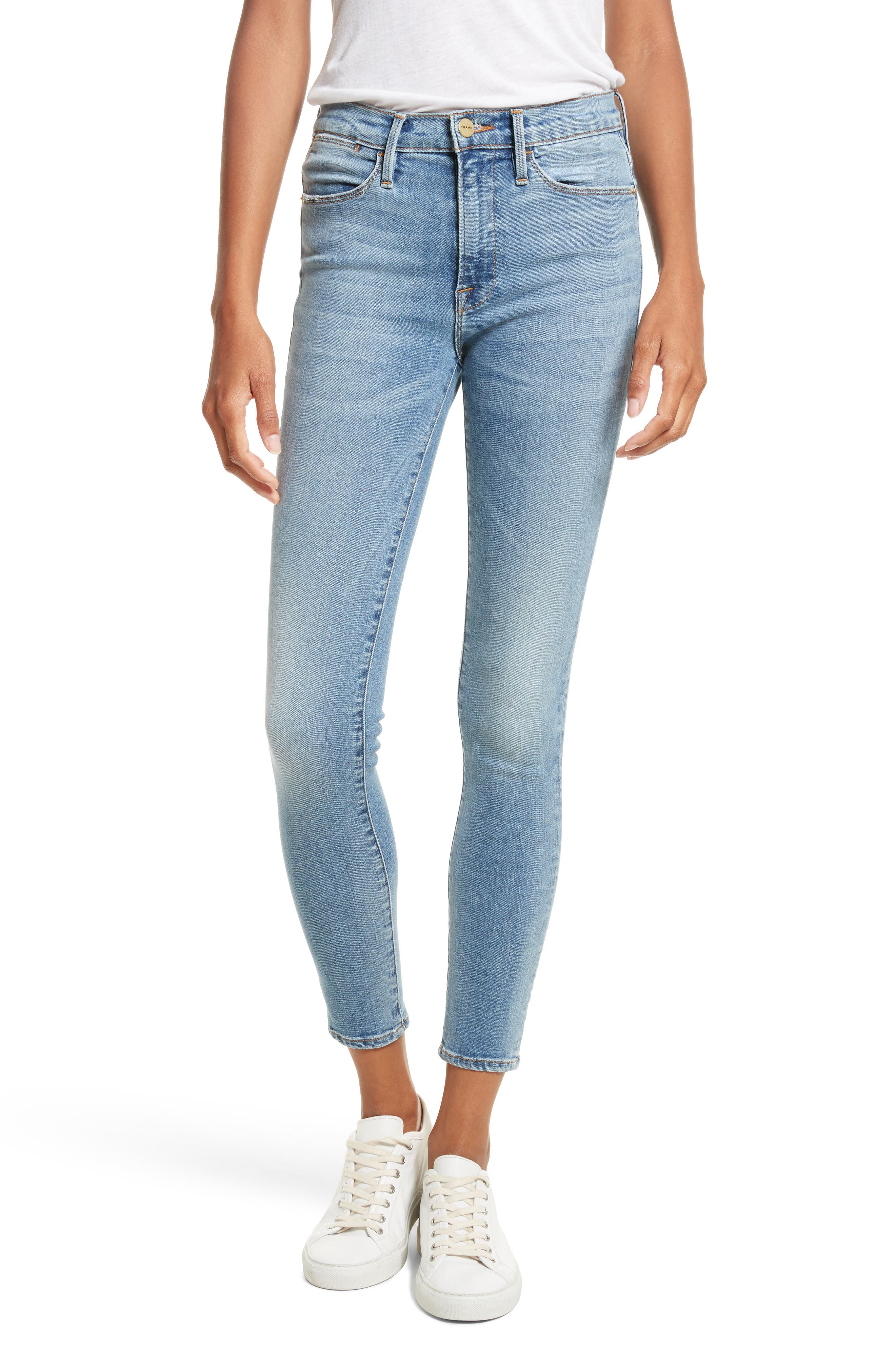 FRAME, Le High Crop Skinny Jeans, Main thumbnail 1, color, LOEHR