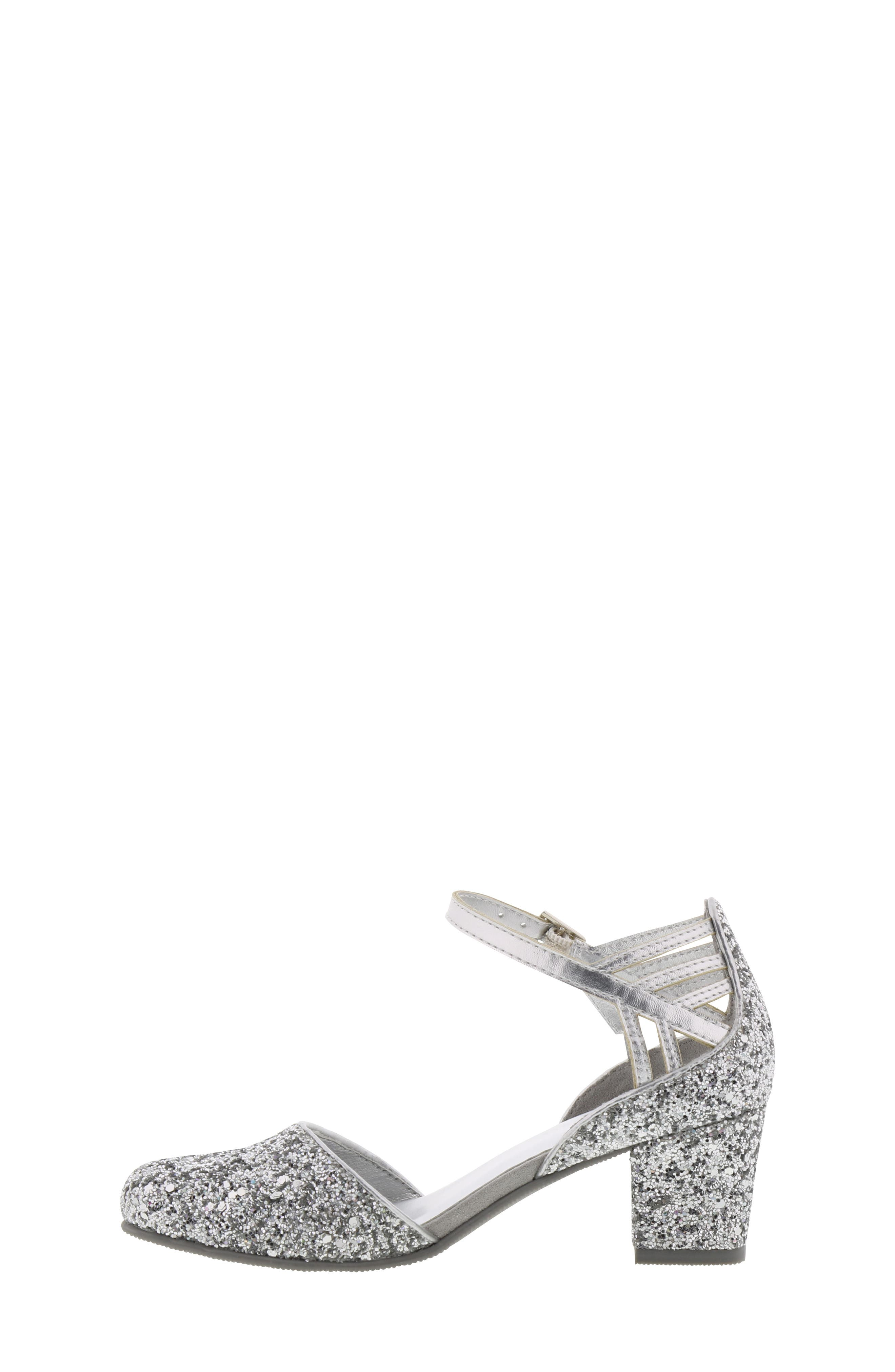 REACTION KENNETH COLE, Kenneth Cole New York Sarah Shine Pump, Alternate thumbnail 9, color, SILVER MULTI