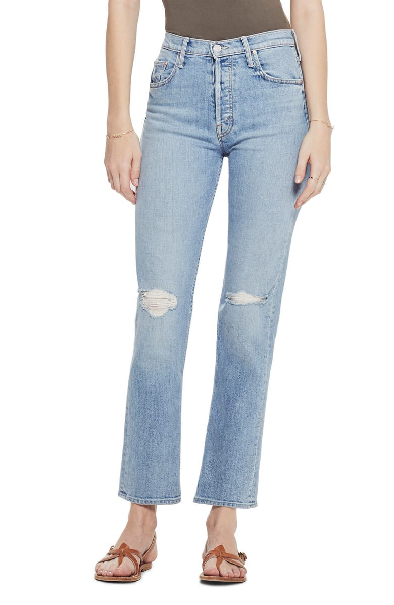 Mother Jeans THE TOMCAT HIGH WAIST STRAIGHT LEG ANKLE JEANS