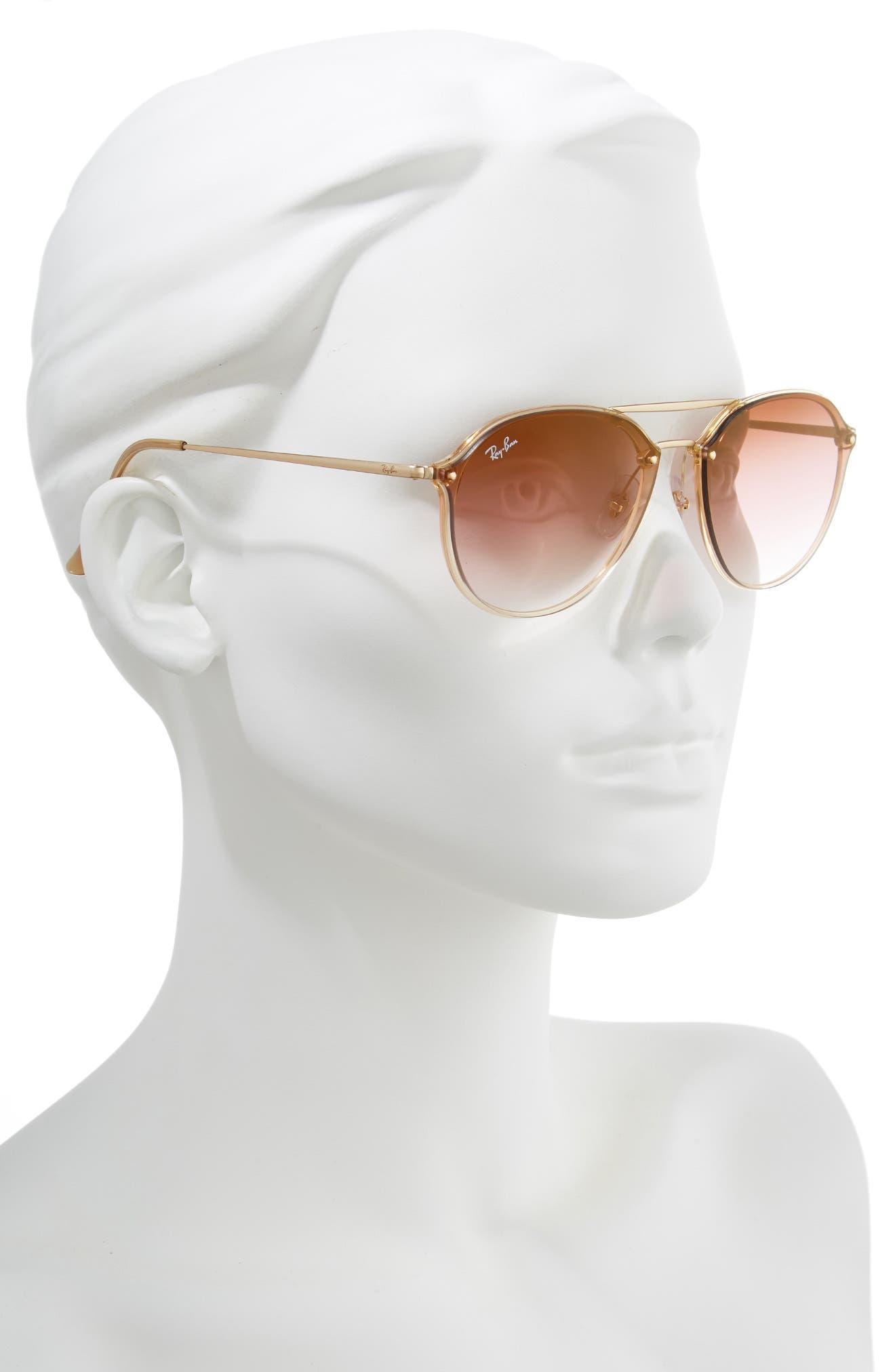 RAY-BAN, 61mm Gradient Aviator Sunglasses, Alternate thumbnail 2, color, GOLD/ BROWN GRADIENT