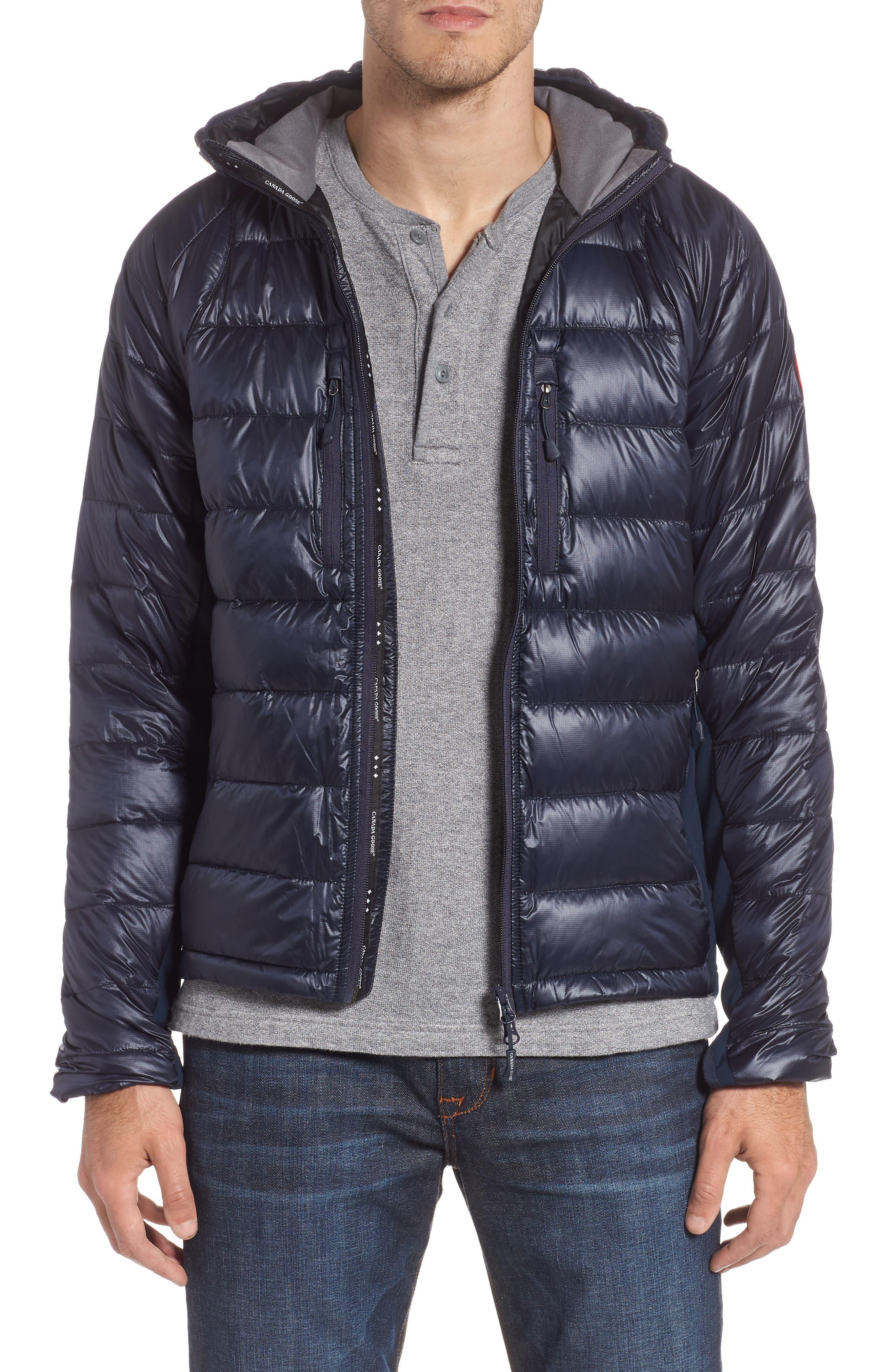 CANADA GOOSE 'Hybridge<sup>™</sup> Lite Hoody' Slim Fit Packable Jacket, Main, color, ADMIRAL BLUE/ BLACK