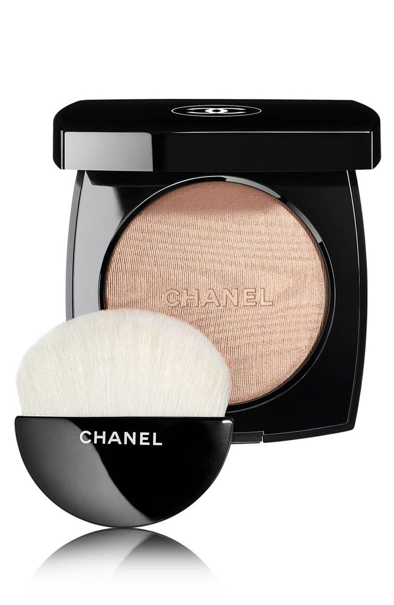 CHANEL HIGHLIGHTING<br />Powder Compact, Main, color, 10 IVORY GOLD