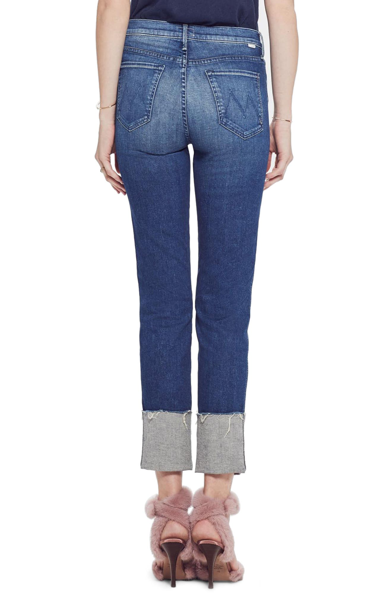 MOTHER, The Pony Boy Frayed Ankle Tapered Jeans, Alternate thumbnail 2, color, LURE ME IN
