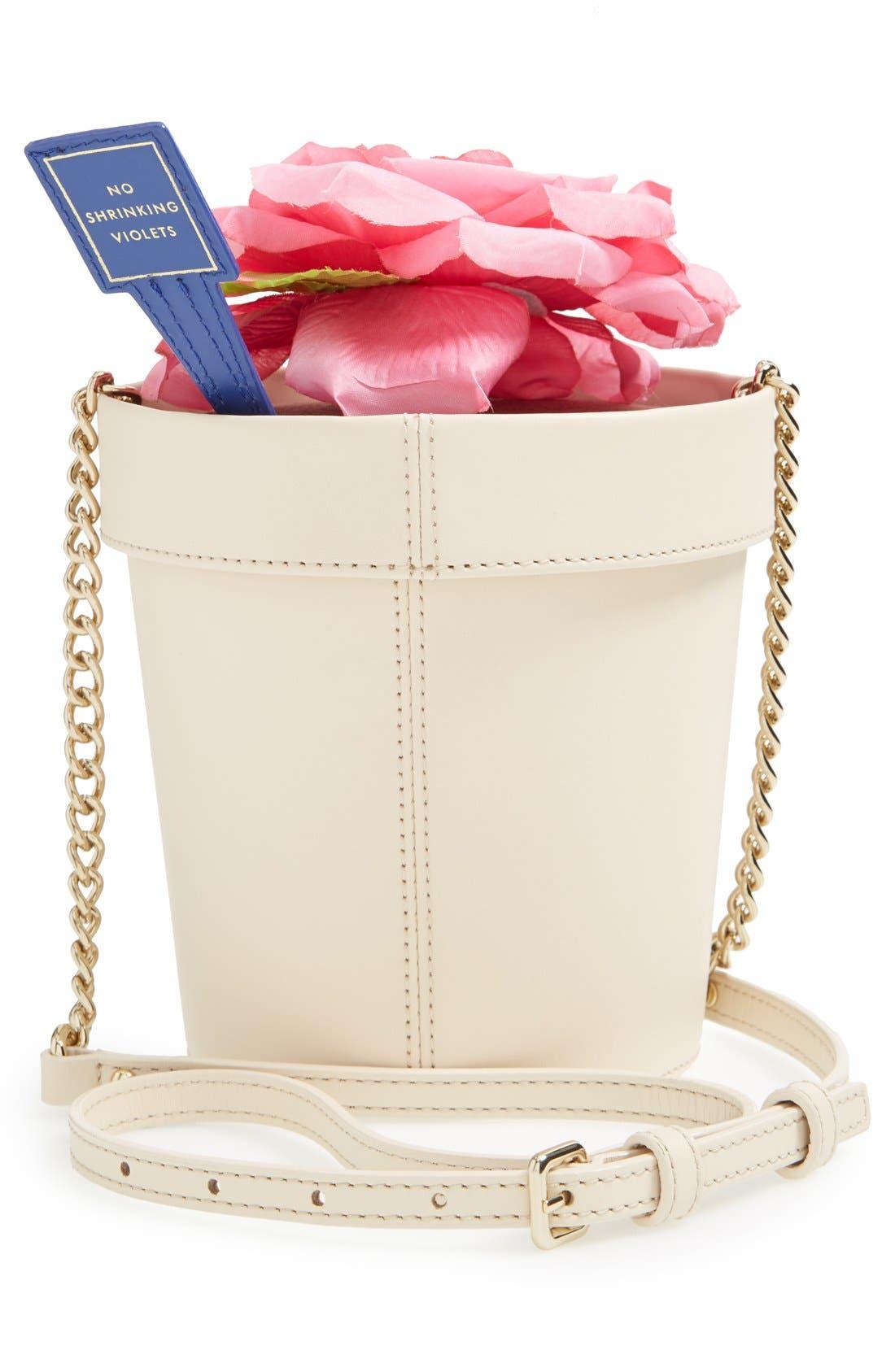 KATE SPADE NEW YORK, 'spring forward - flowerpot' crossbody bag, Alternate thumbnail 5, color, 100