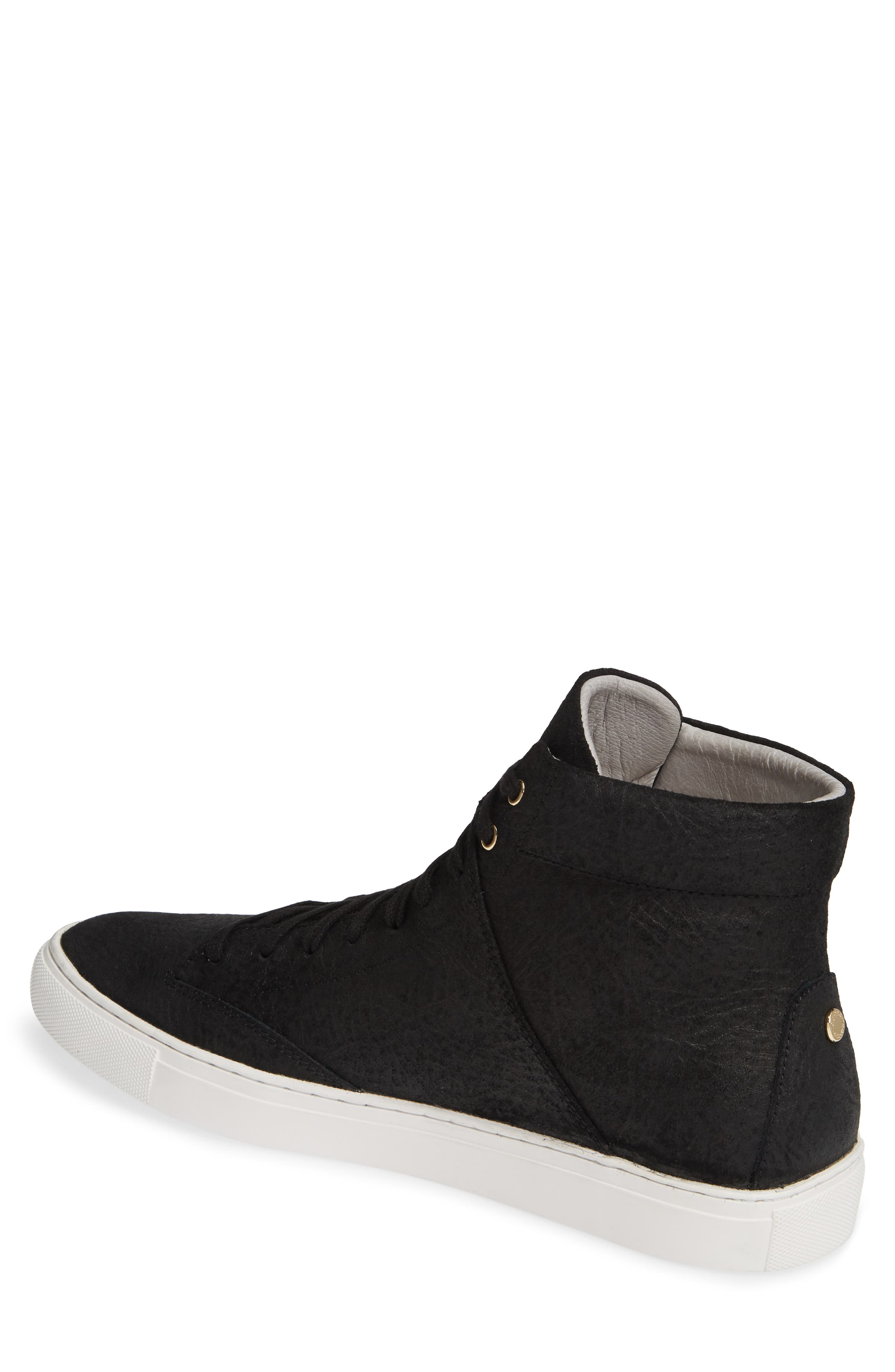 TCG, 'Porter' High Top Sneaker, Alternate thumbnail 2, color, BLACK LEATHER