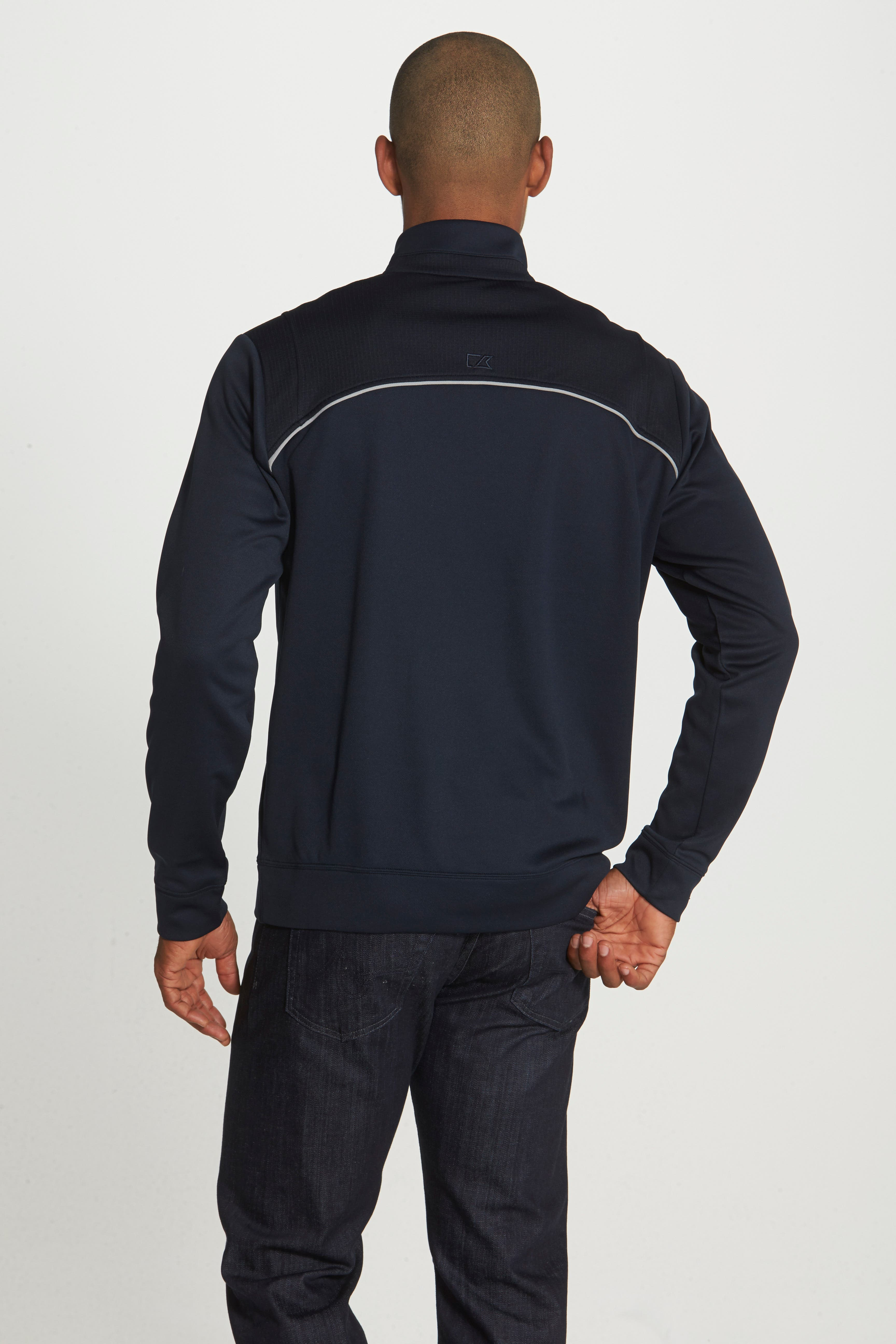 CUTTER & BUCK, Ridge WeatherTec Wind & Water Resistant Pullover, Alternate thumbnail 2, color, NAVY BLUE