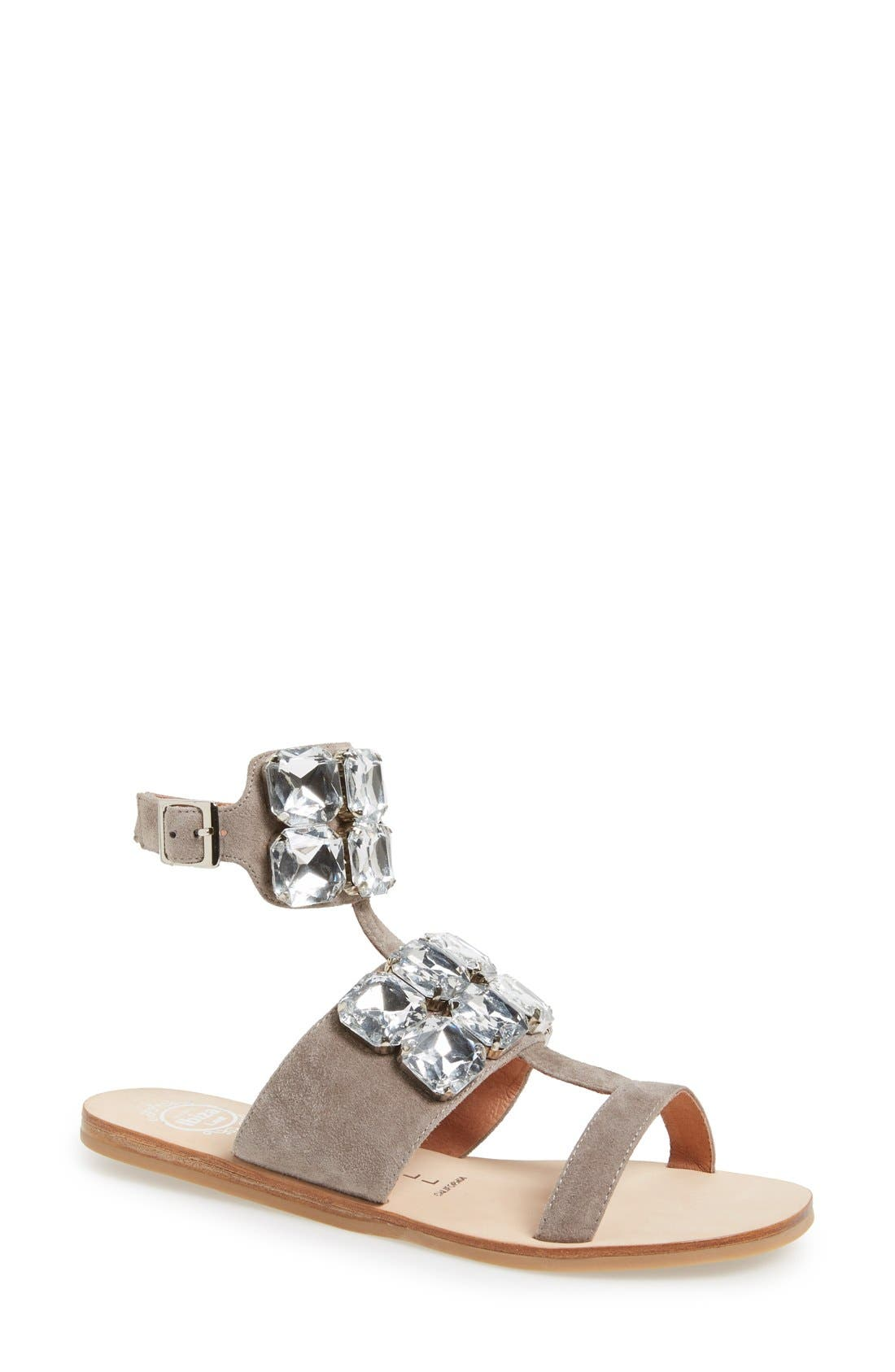JEFFREY CAMPBELL, 'Sabita' Jeweled Suede Ankle Strap Sandal, Alternate thumbnail 2, color, 060