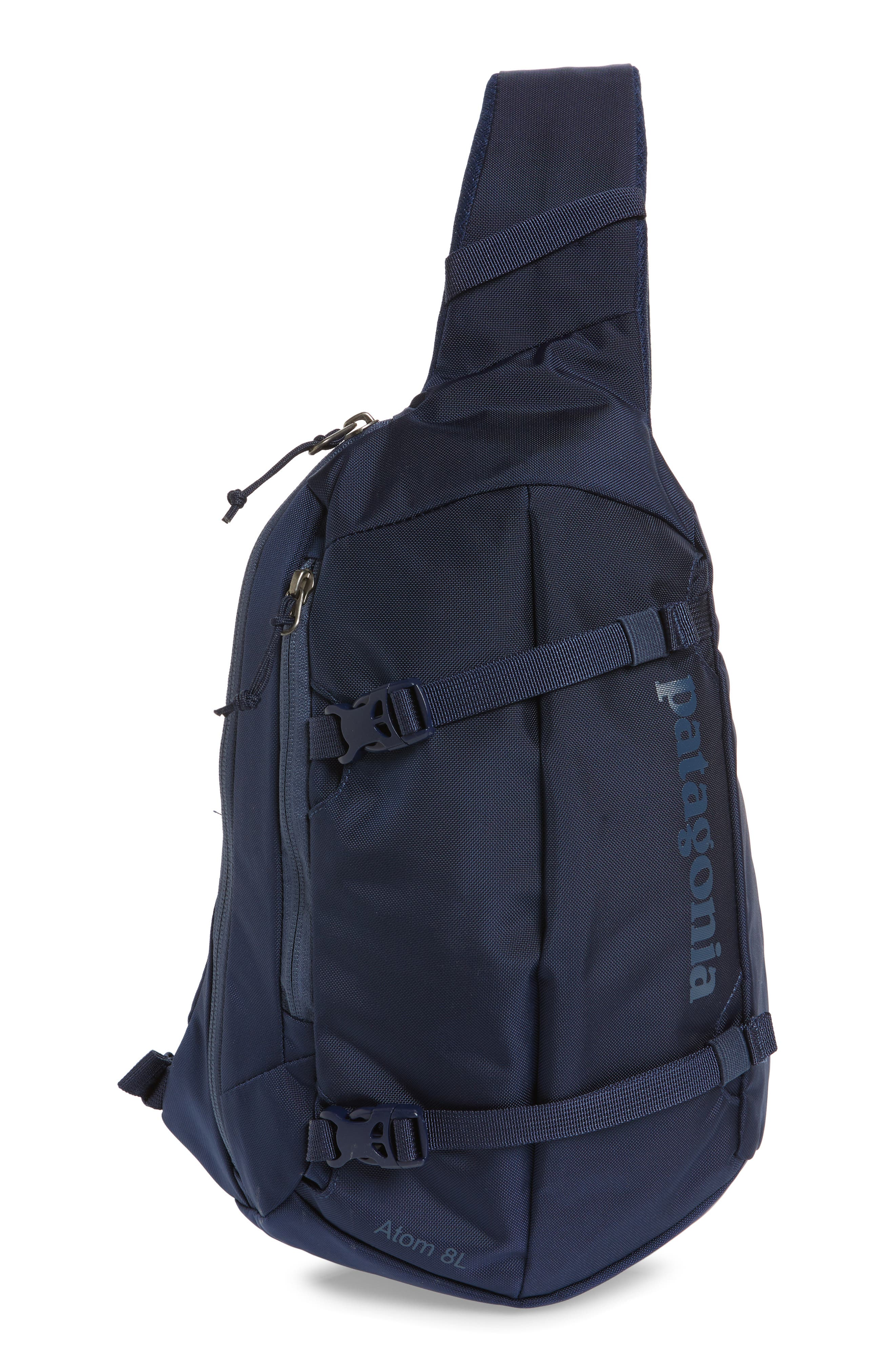PATAGONIA, Atom 8L Sling Backpack, Main thumbnail 1, color, CLASSIC NAVY W/ NAVY