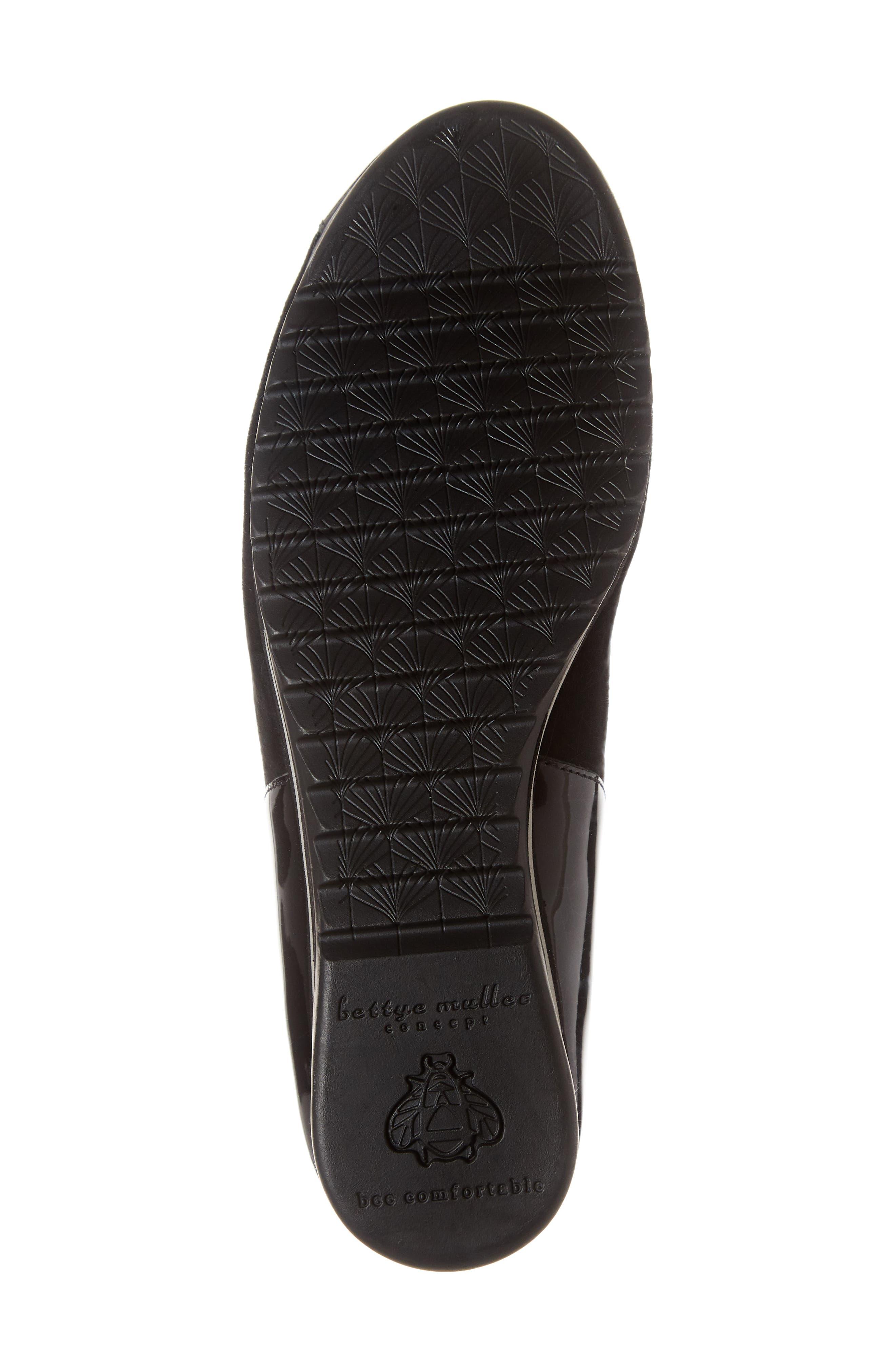 BETTYE MULLER CONCEPTS, Taytum Sneaker, Alternate thumbnail 6, color, BLACK SUEDE