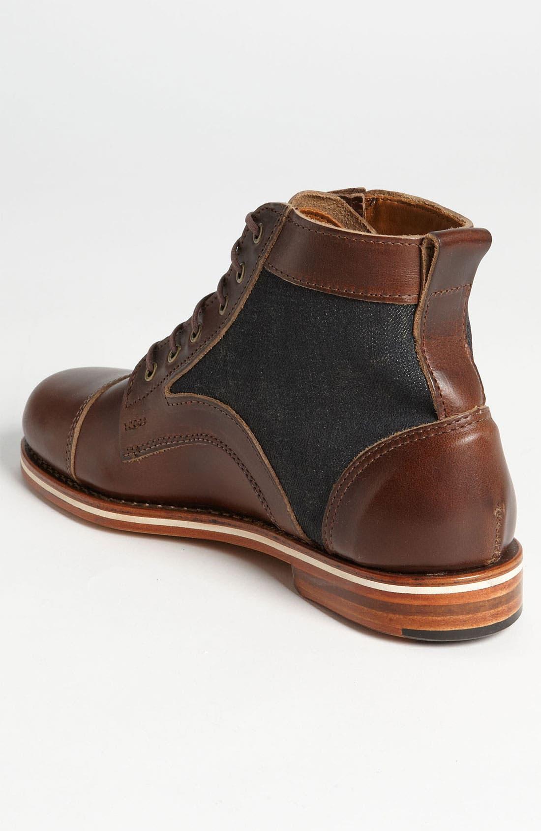 HELM, 'Reid' Cap Toe Boot, Alternate thumbnail 2, color, 200