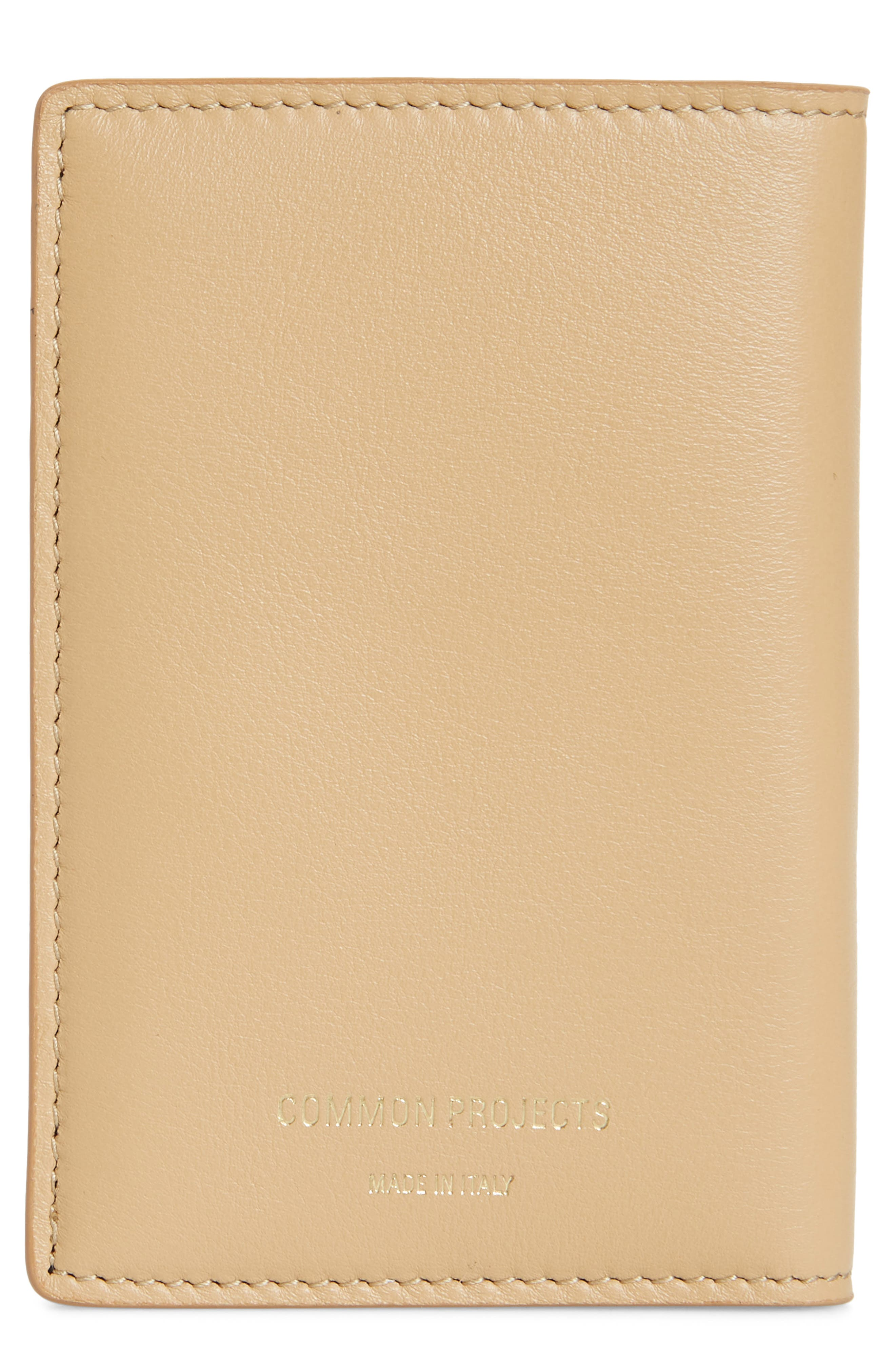 COMMON PROJECTS, Nappa Leather Folio Wallet, Main thumbnail 1, color, 250
