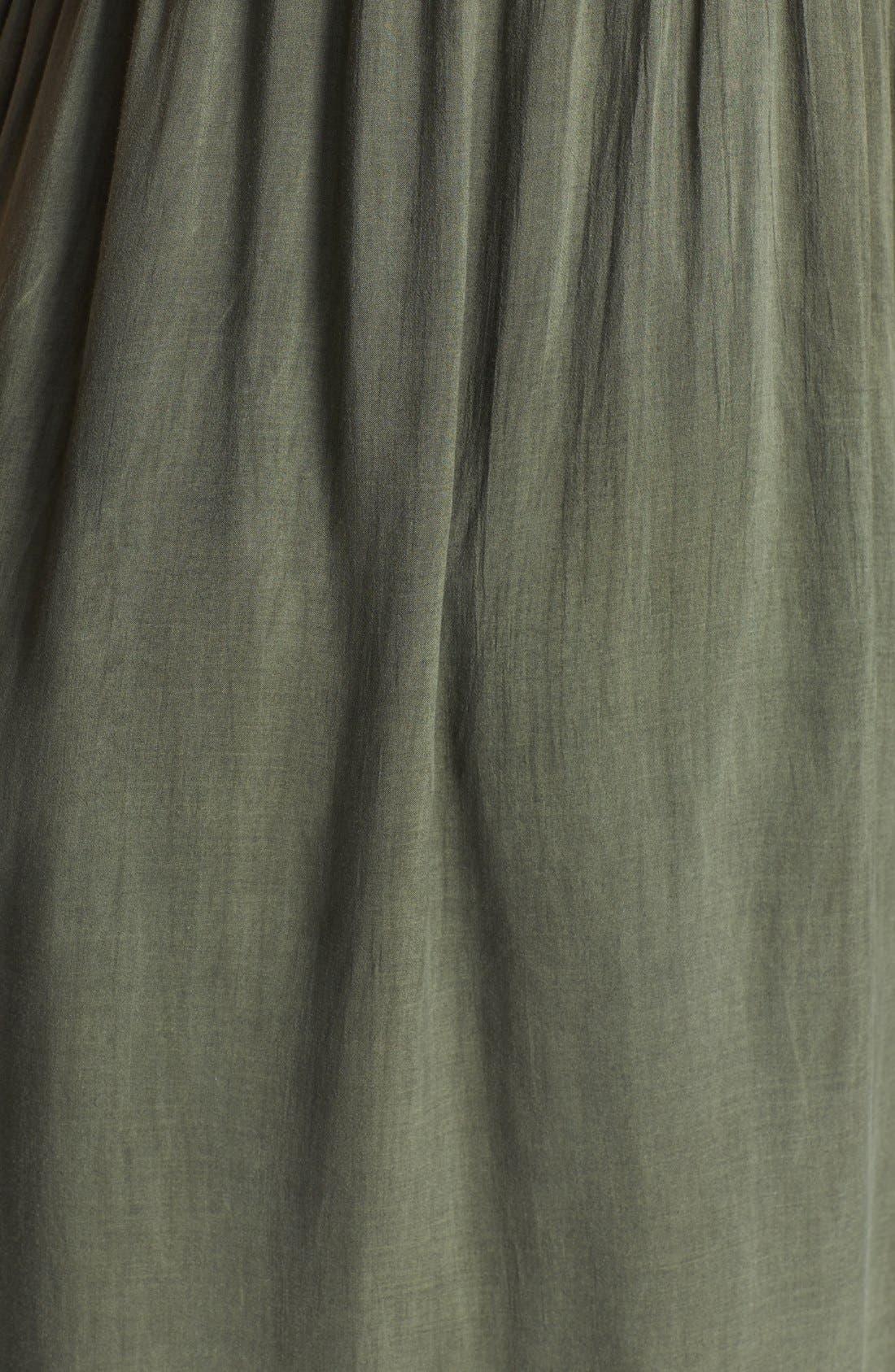 JAMES PERSE, Deep V-Neck Chiffon Dress, Alternate thumbnail 3, color, 084