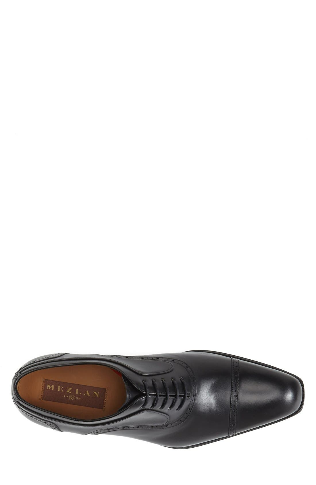 MEZLAN, 'March' Cap Toe Oxford, Alternate thumbnail 3, color, 001