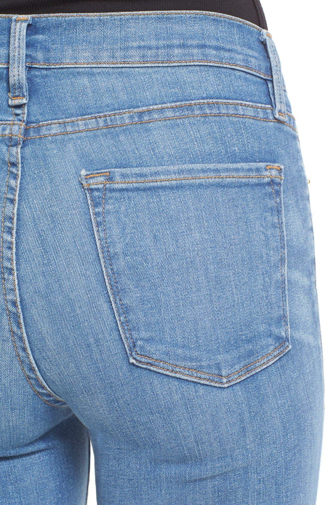 FRAME, Forever Karlie Flare Jeans, Alternate thumbnail 4, color, 401