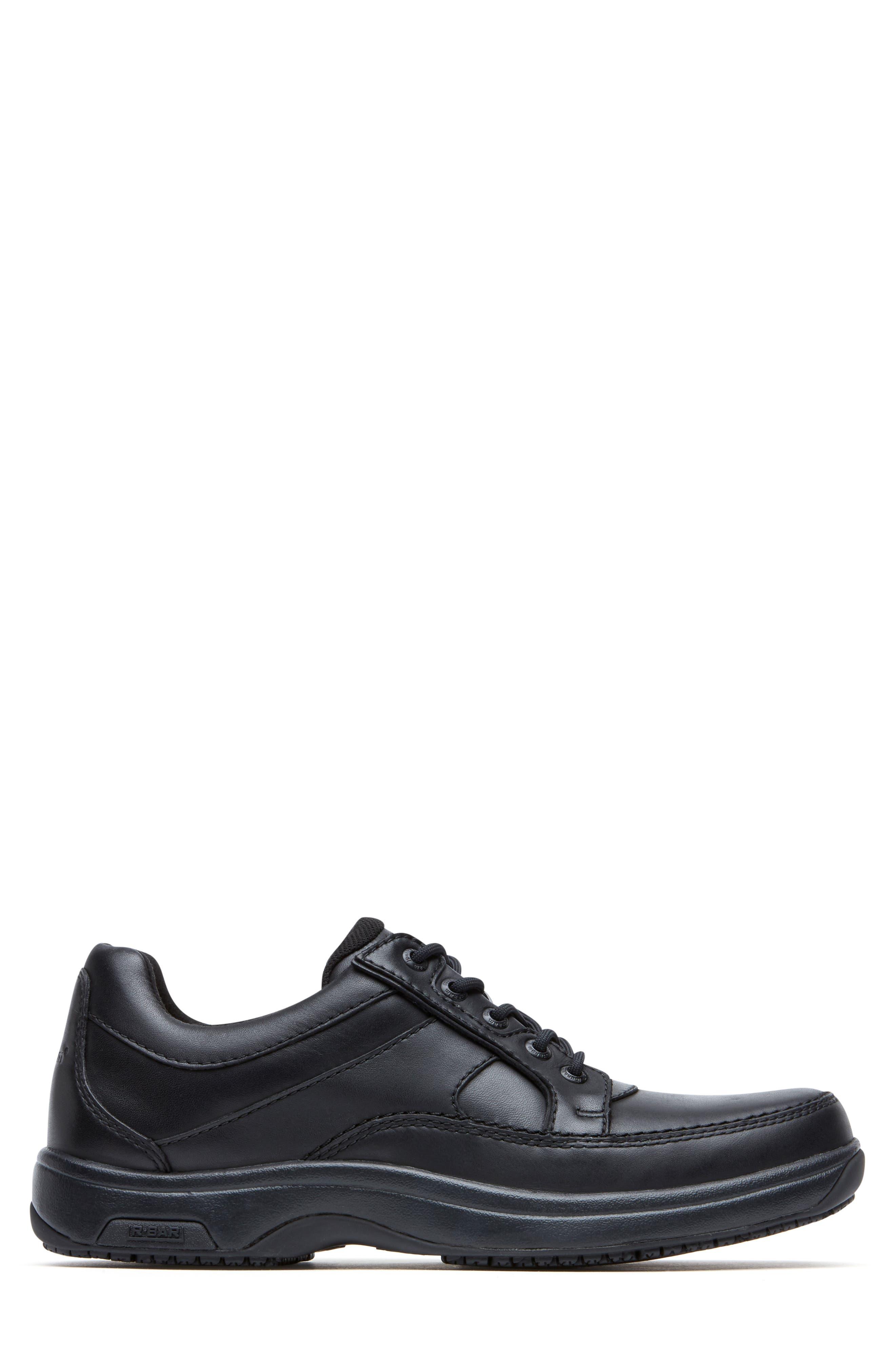 DUNHAM, 'Midland' Sneaker, Alternate thumbnail 3, color, BLACK LEATHER