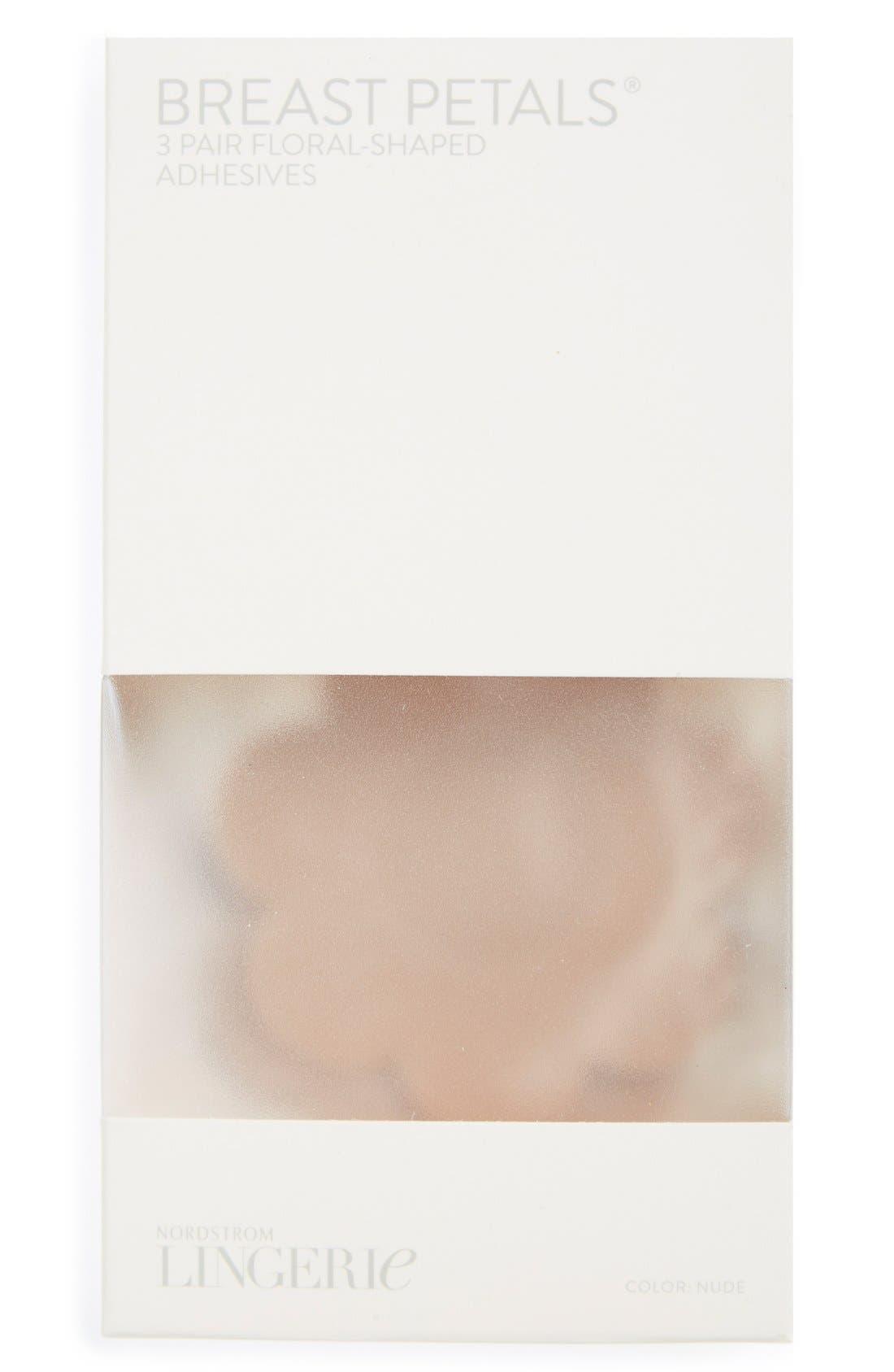 NORDSTROM LINGERIE, 3-Pack Breast Petals, Alternate thumbnail 3, color, NUDE