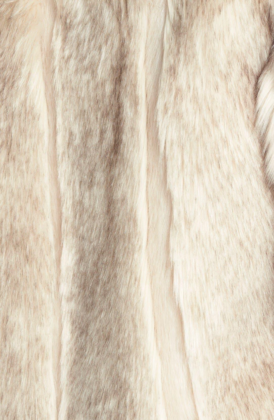 TOPSHOP, 'Leah' Faux Fur Coat, Alternate thumbnail 3, color, 101
