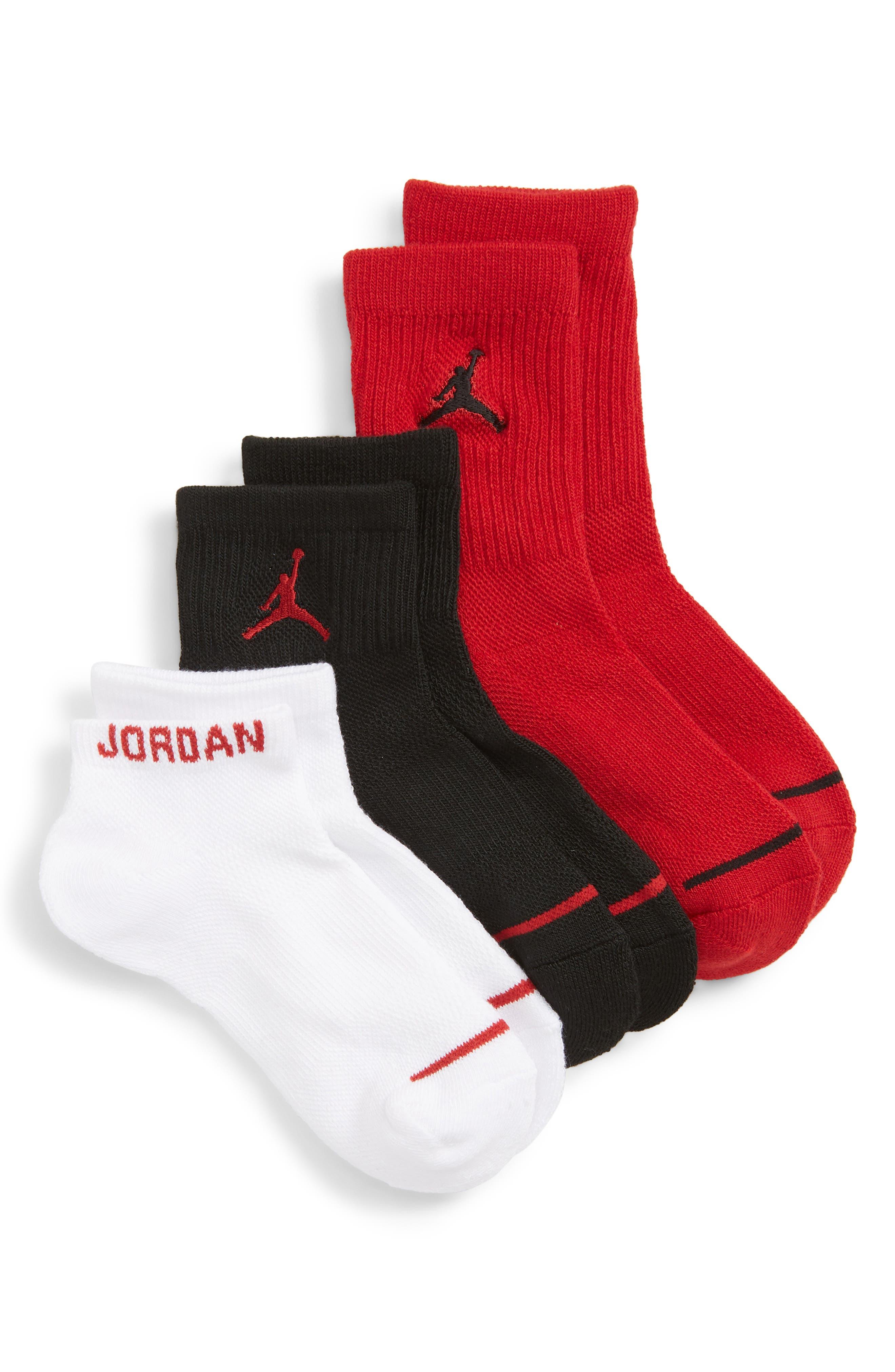 NIKE 3-Pack Jordan Jumpman Variety Crew Socks, Main, color, 608