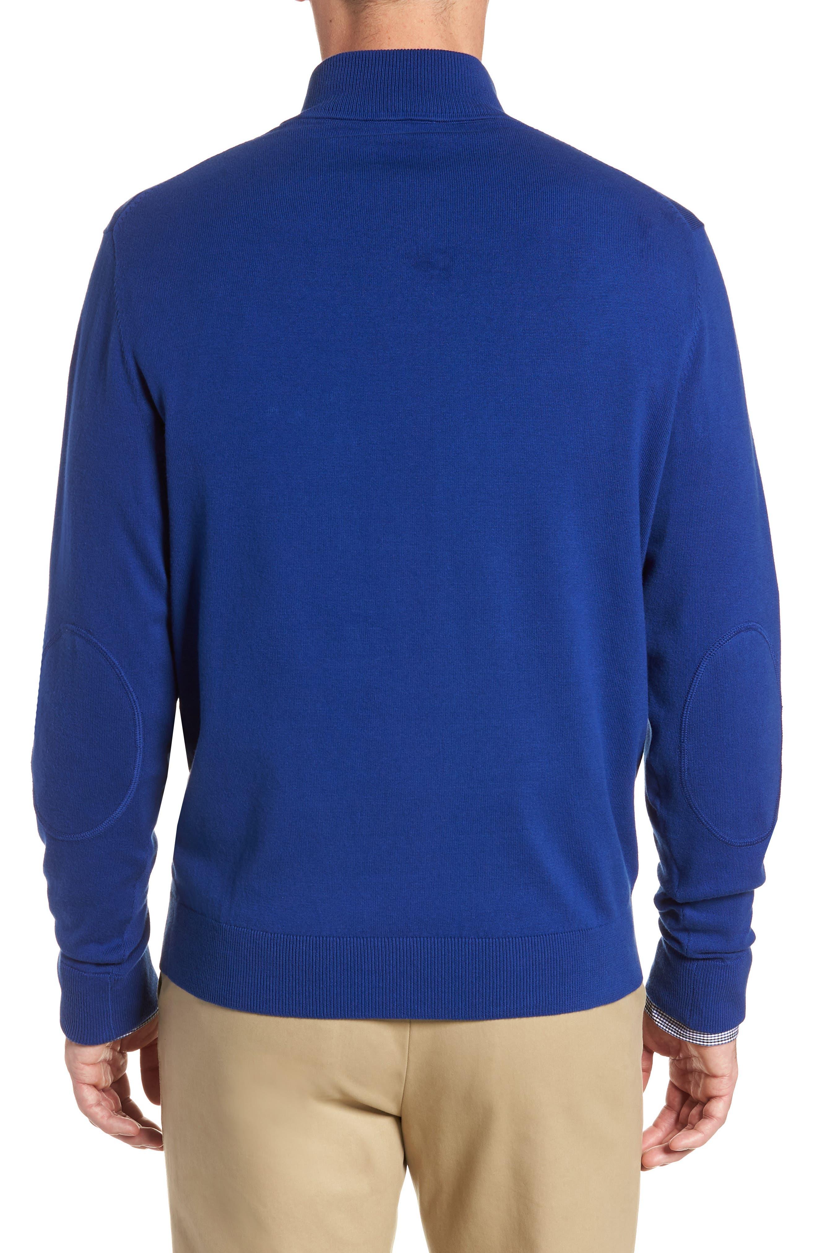 CUTTER & BUCK, Lakemont Half Zip Sweater, Alternate thumbnail 2, color, 419