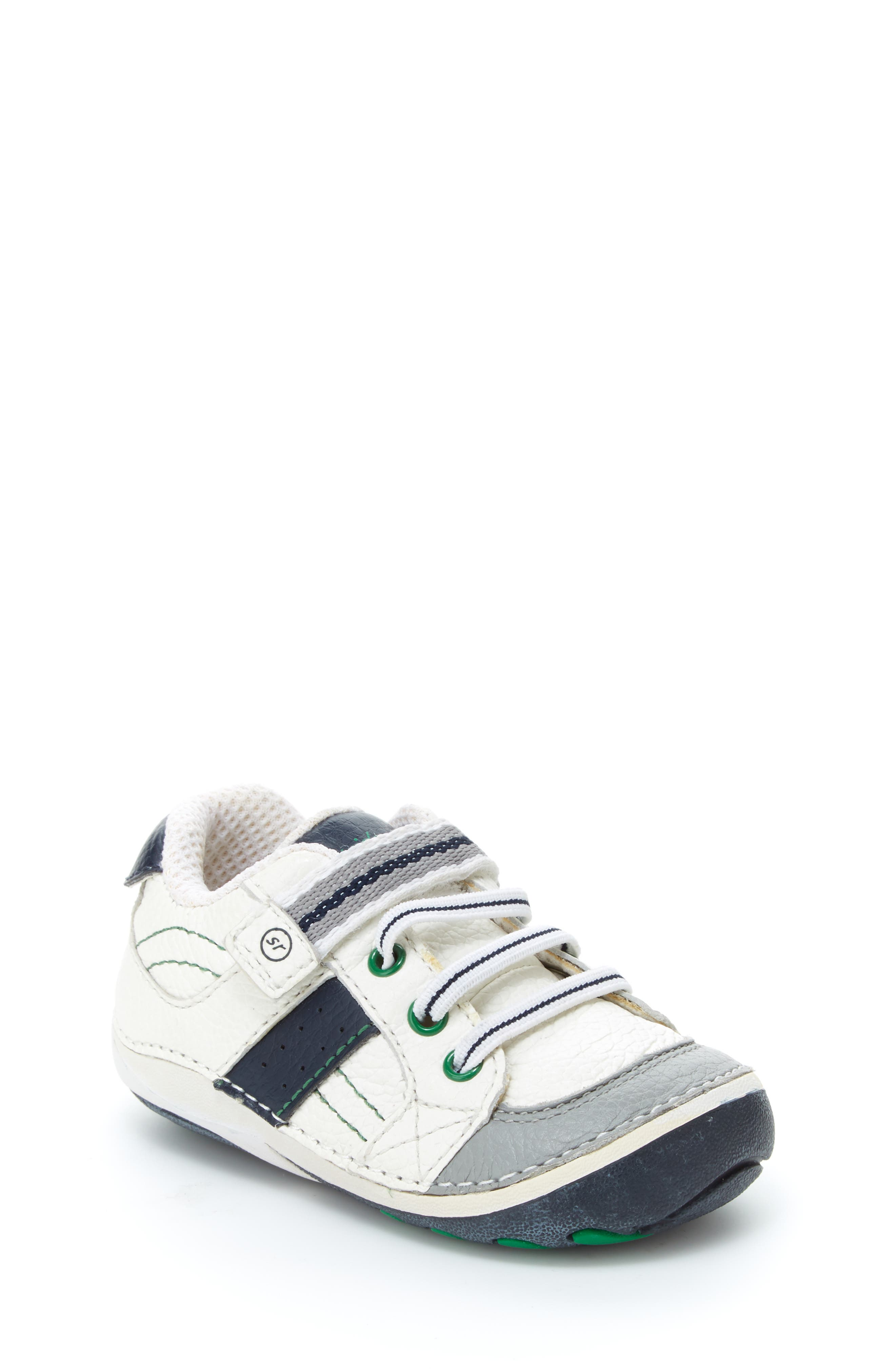 STRIDE RITE, 'Arte' Sneaker, Alternate thumbnail 2, color, WHITE/ NAVY