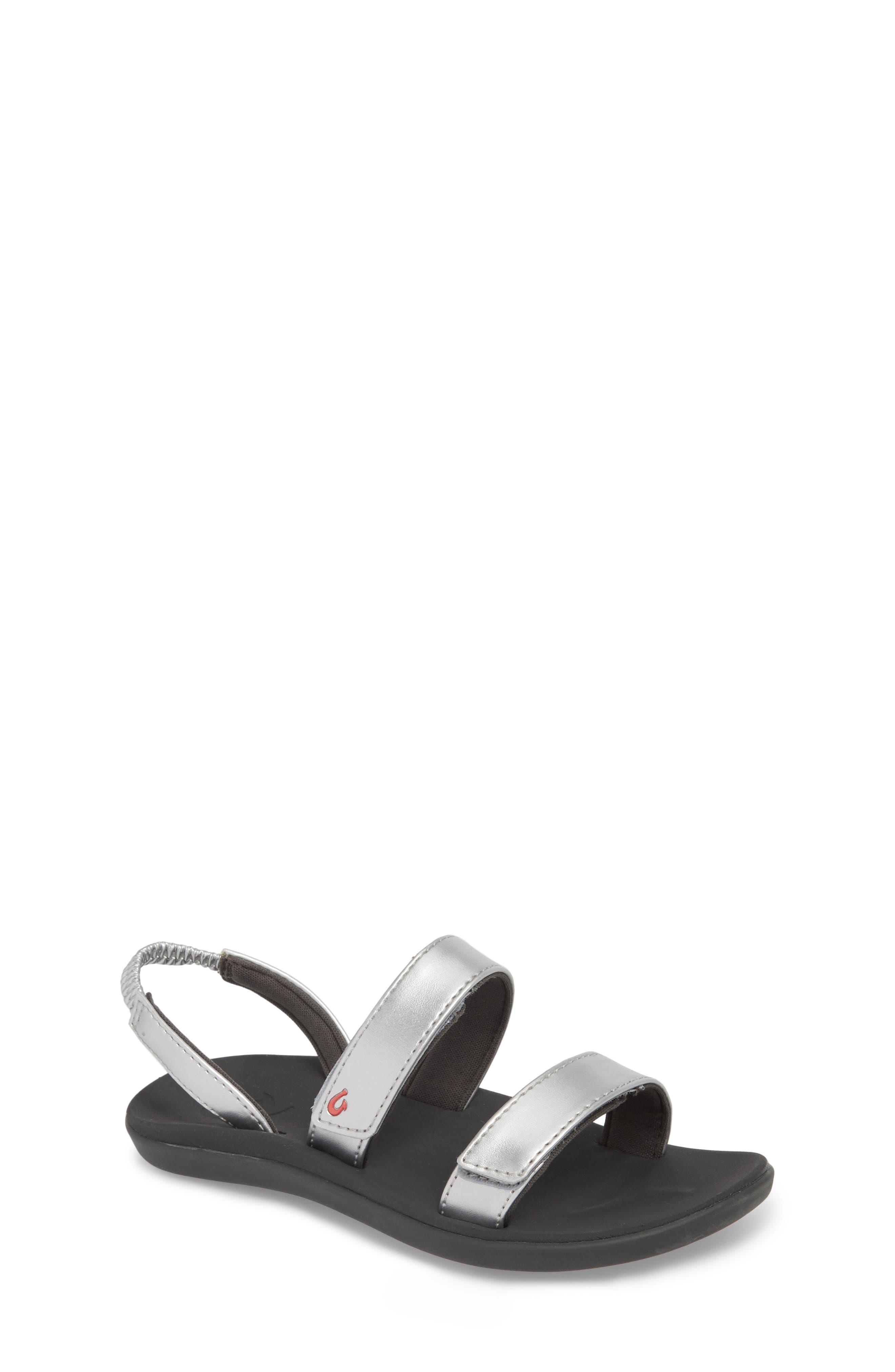 OLUKAI Kipuka Sandal, Main, color, SILVER/ DARK SHADOW