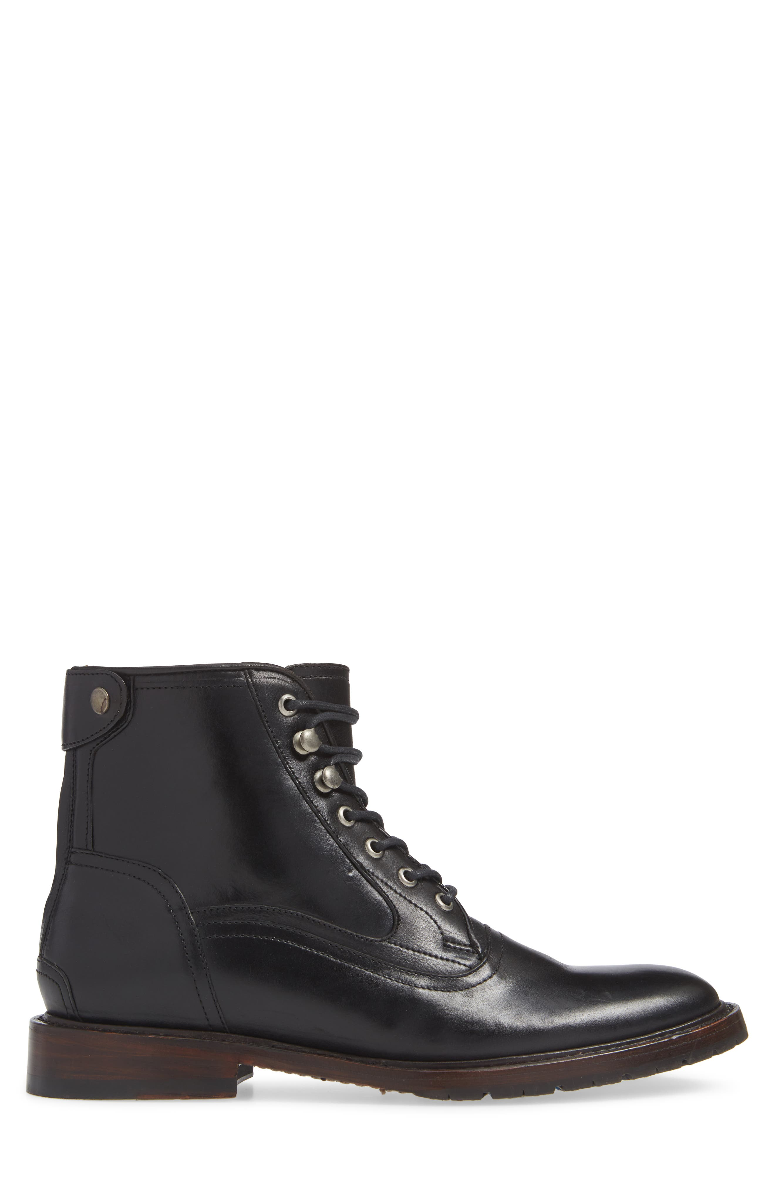 TWO24, by Ariat Fairfax Plain Toe Boot, Alternate thumbnail 3, color, BLACK LEATHER