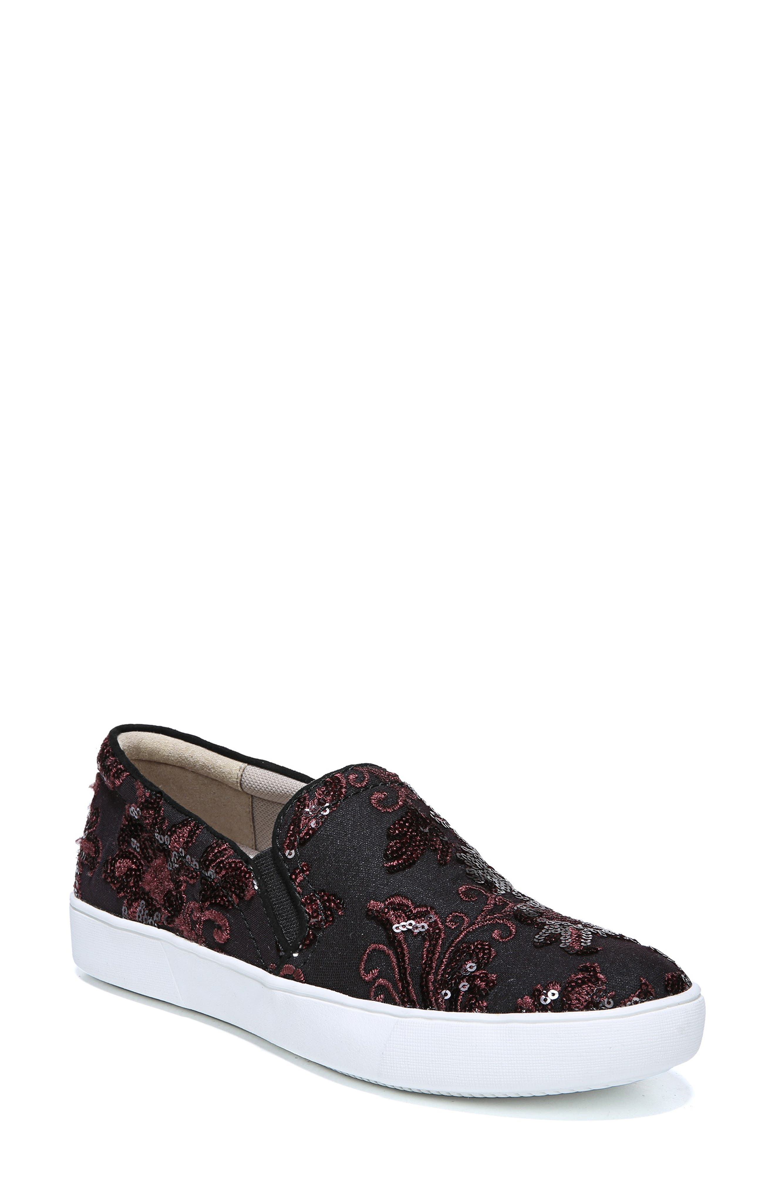 NATURALIZER Marianne Slip-On Sneaker, Main, color, BURGUNDY EMBROIDERED