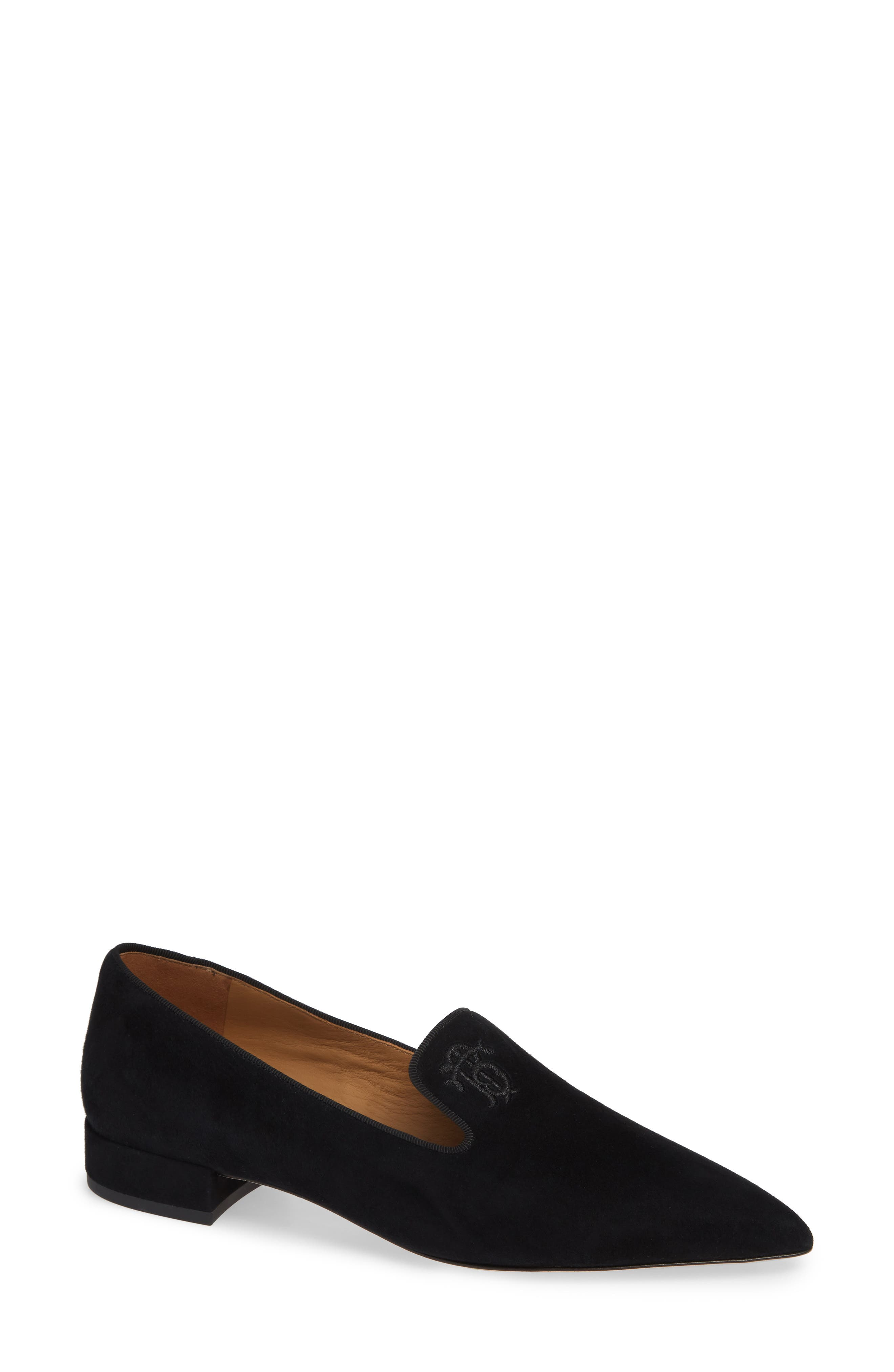 Tory Burch Pascal Pointy Toe Loafer, Black
