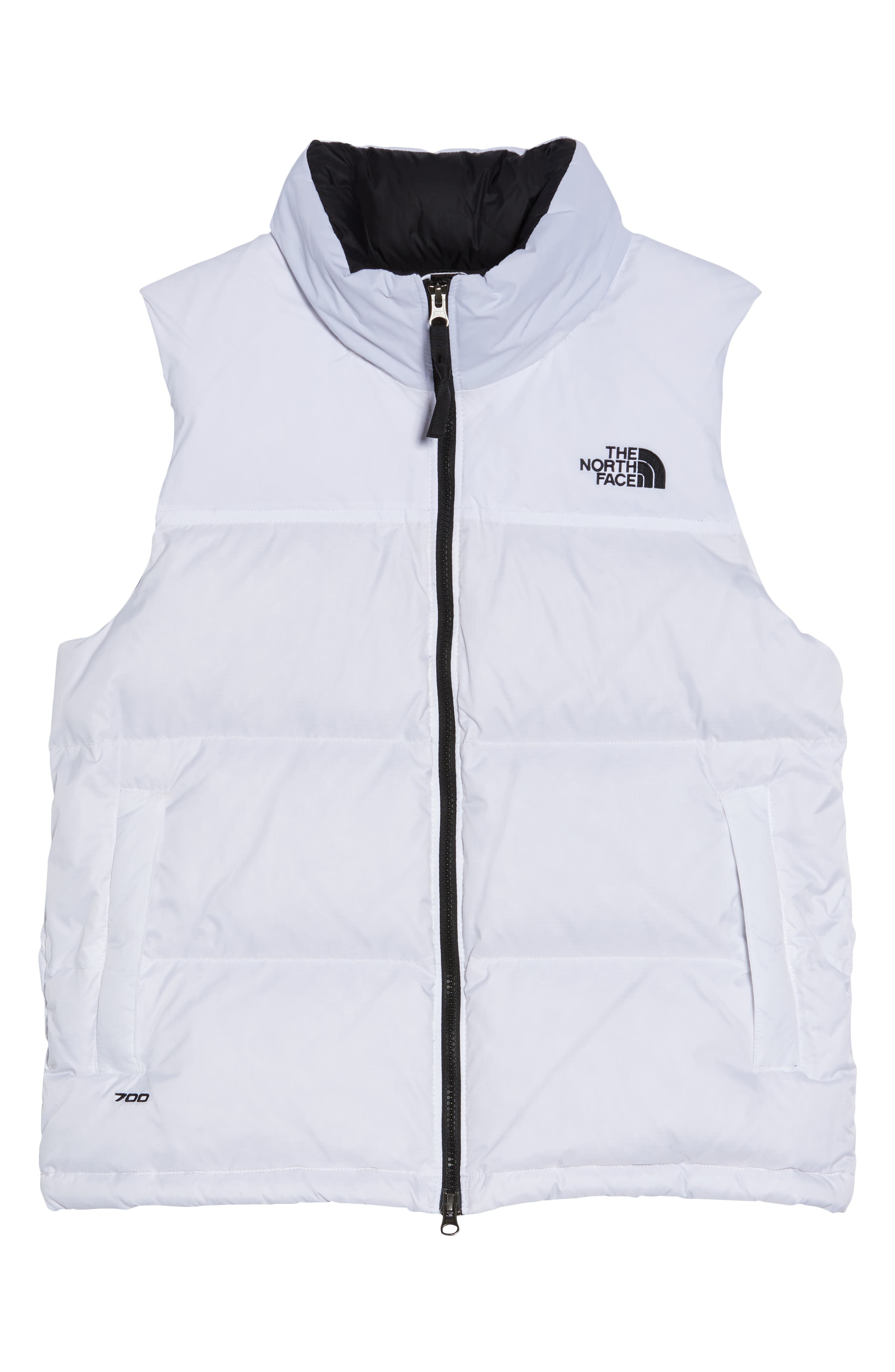 THE NORTH FACE, Nuptse 1996 Packable 700-Fill Power Down Vest, Alternate thumbnail 6, color, TNF WHITE
